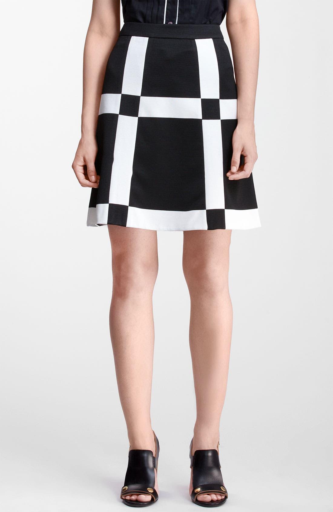 Main Image - Marni Edition Grid Print Knit Skirt