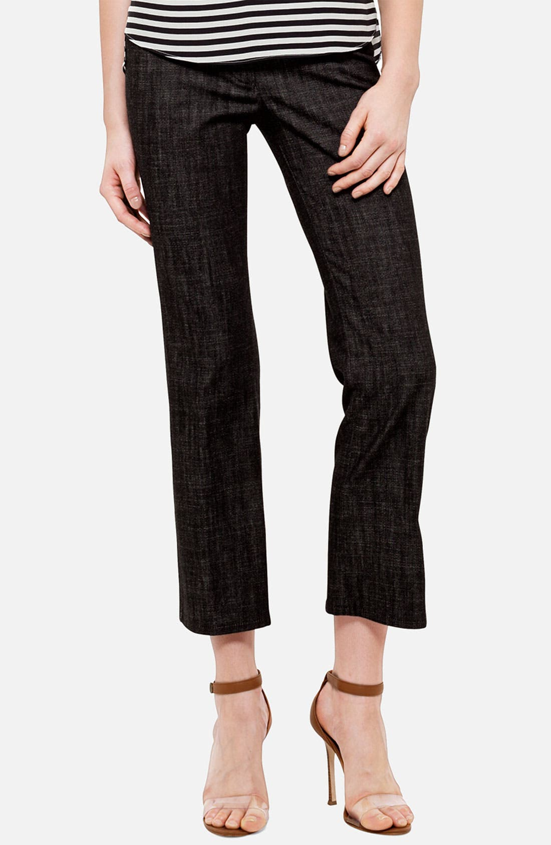 Alternate Image 1 Selected - Akris punto 'Fayette' Bootcut Stretch Cotton Jeans
