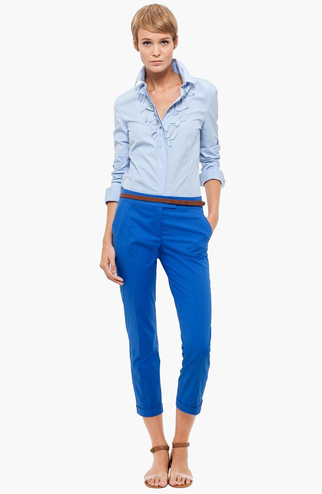 Alternate Image 4  - Akris punto 'Frankie' Stretch Cotton Crop Pants