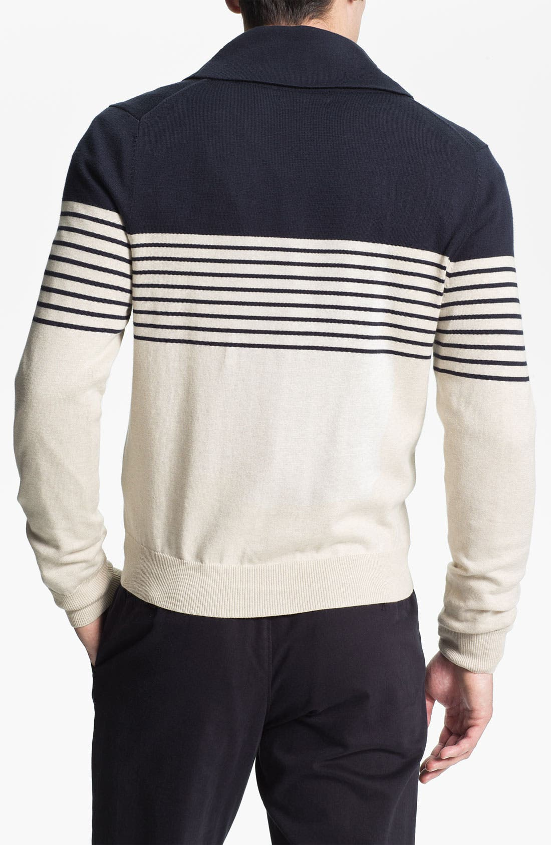 Alternate Image 2  - Brooks Brothers Shawl Collar Cardigan