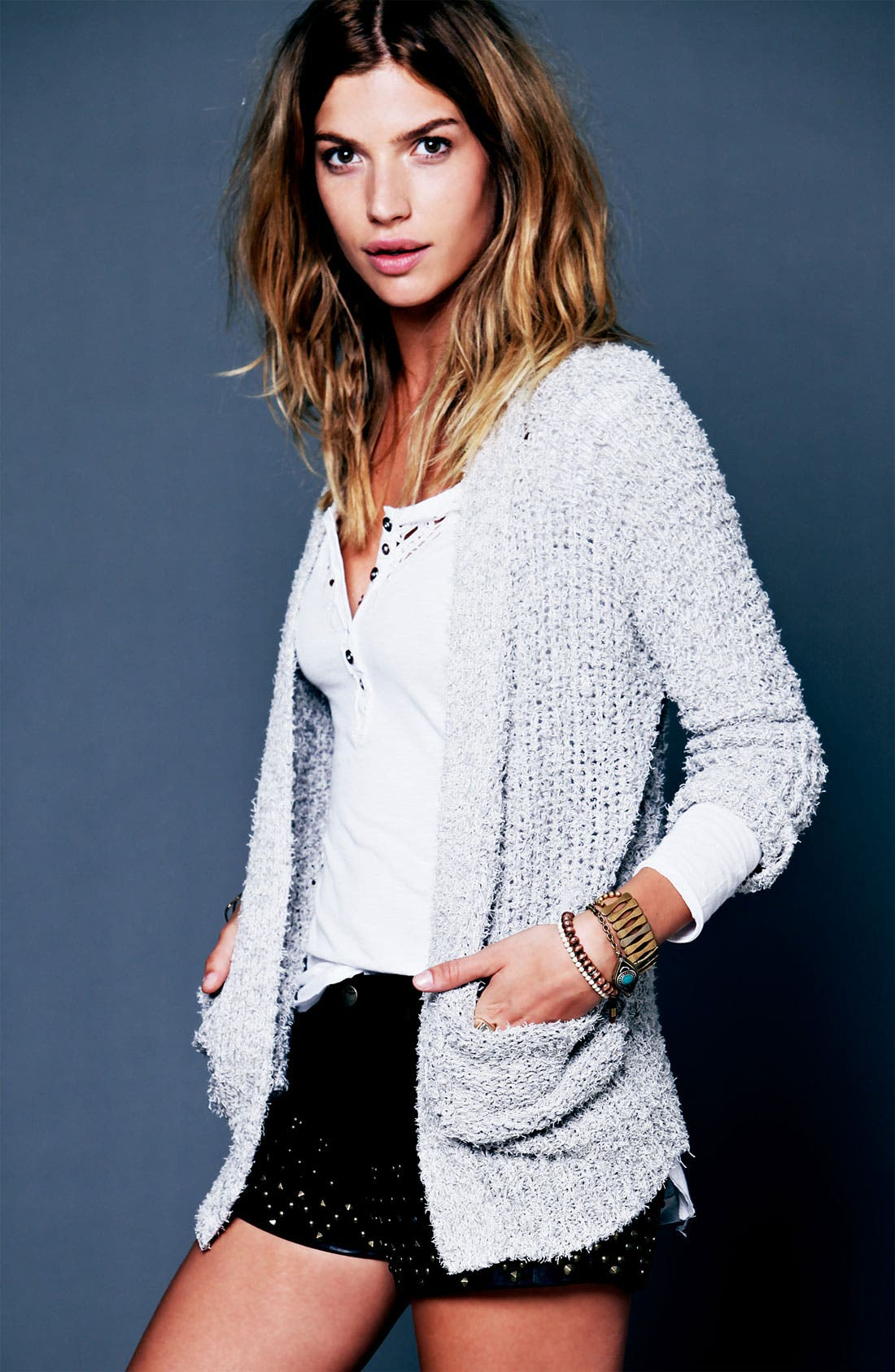 Alternate Image 5  - Free People 'Legacy' Crochet Neck Henley Top
