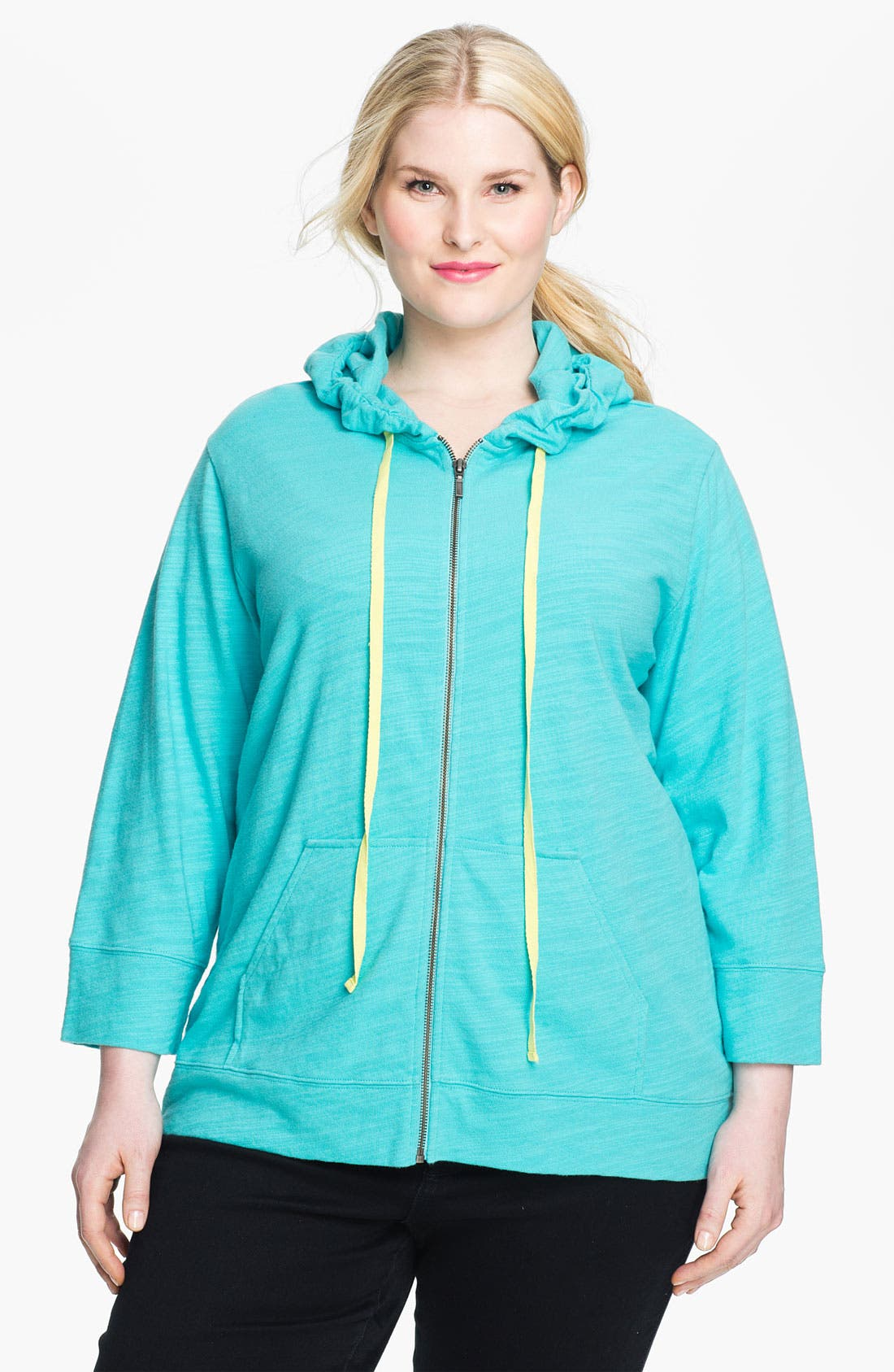 Main Image - Sejour Weekend Zip Hoodie (Plus)