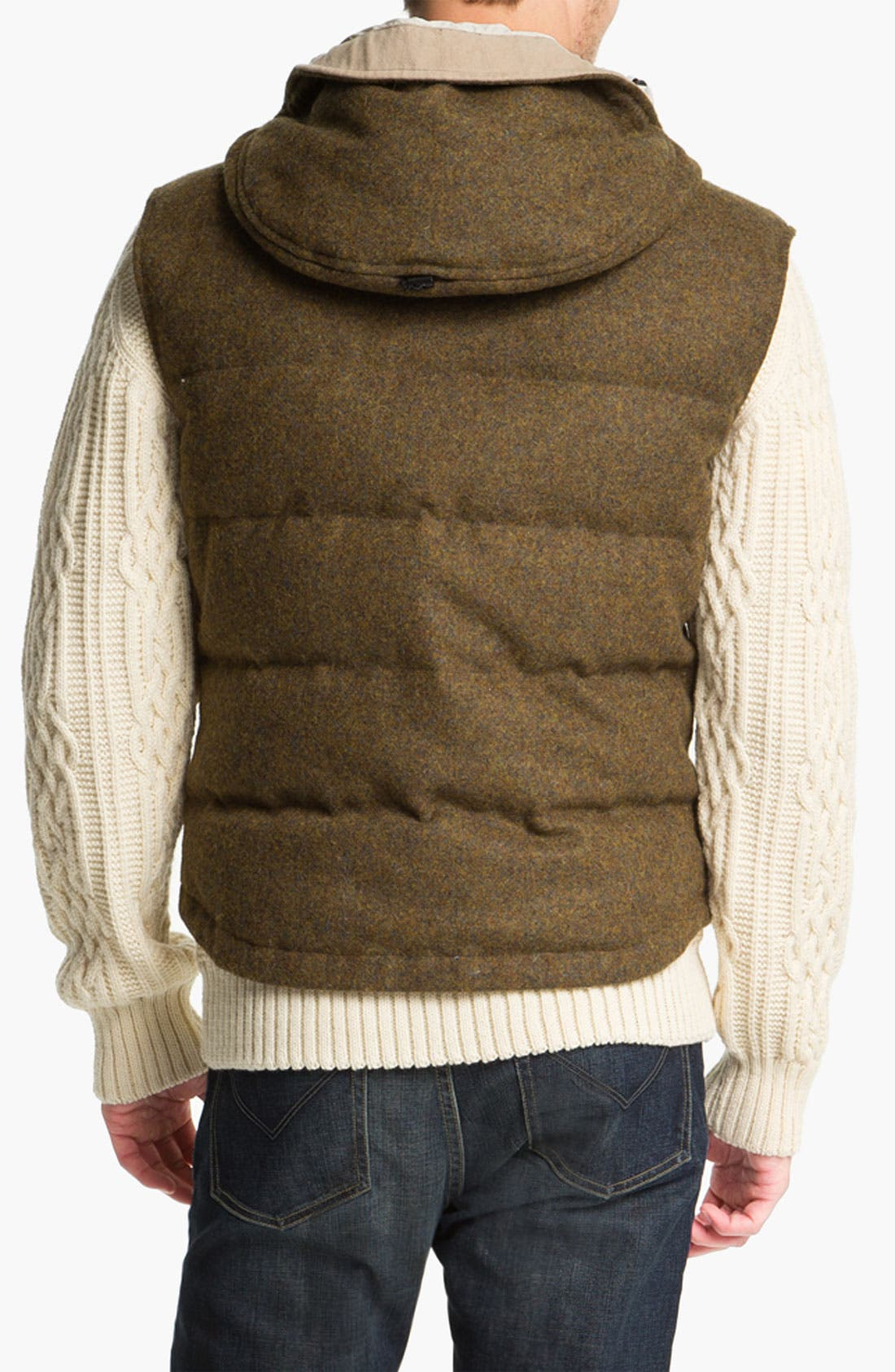 Alternate Image 2  - Hunter Hooded Wool Vest with Down Fill
