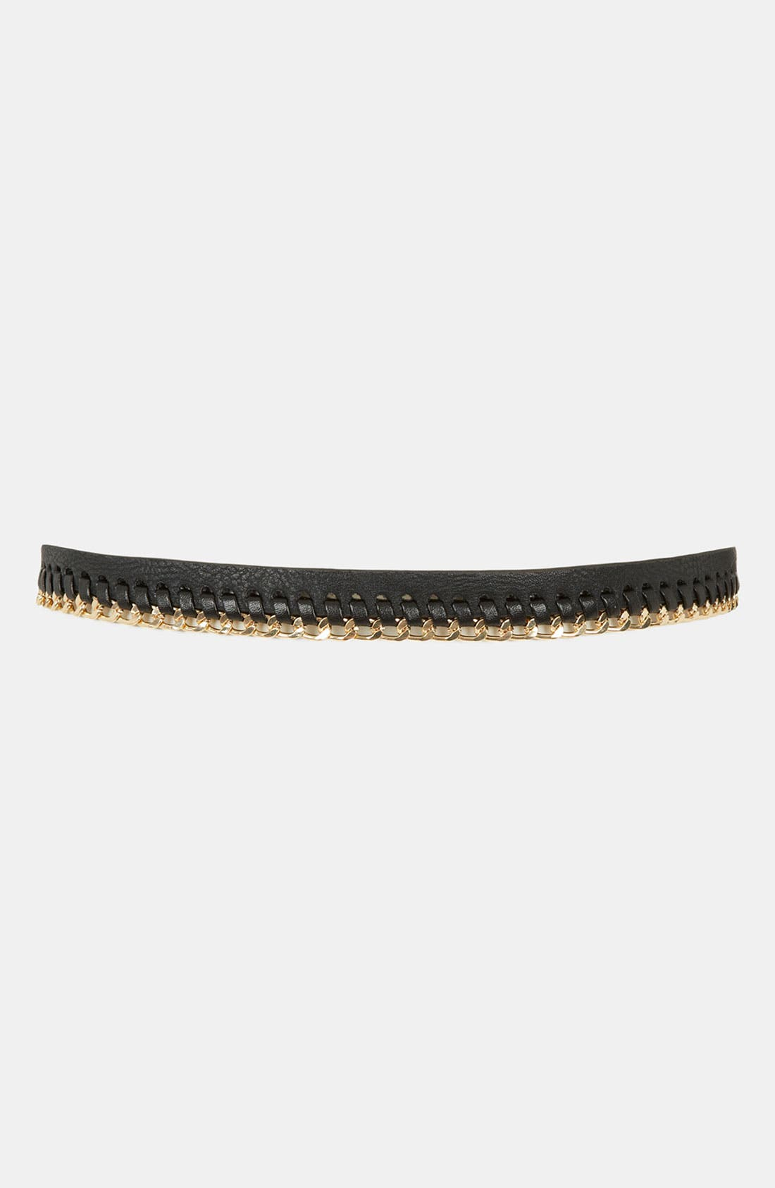 Alternate Image 2  - Topshop Chain Stitch Skinny Belt