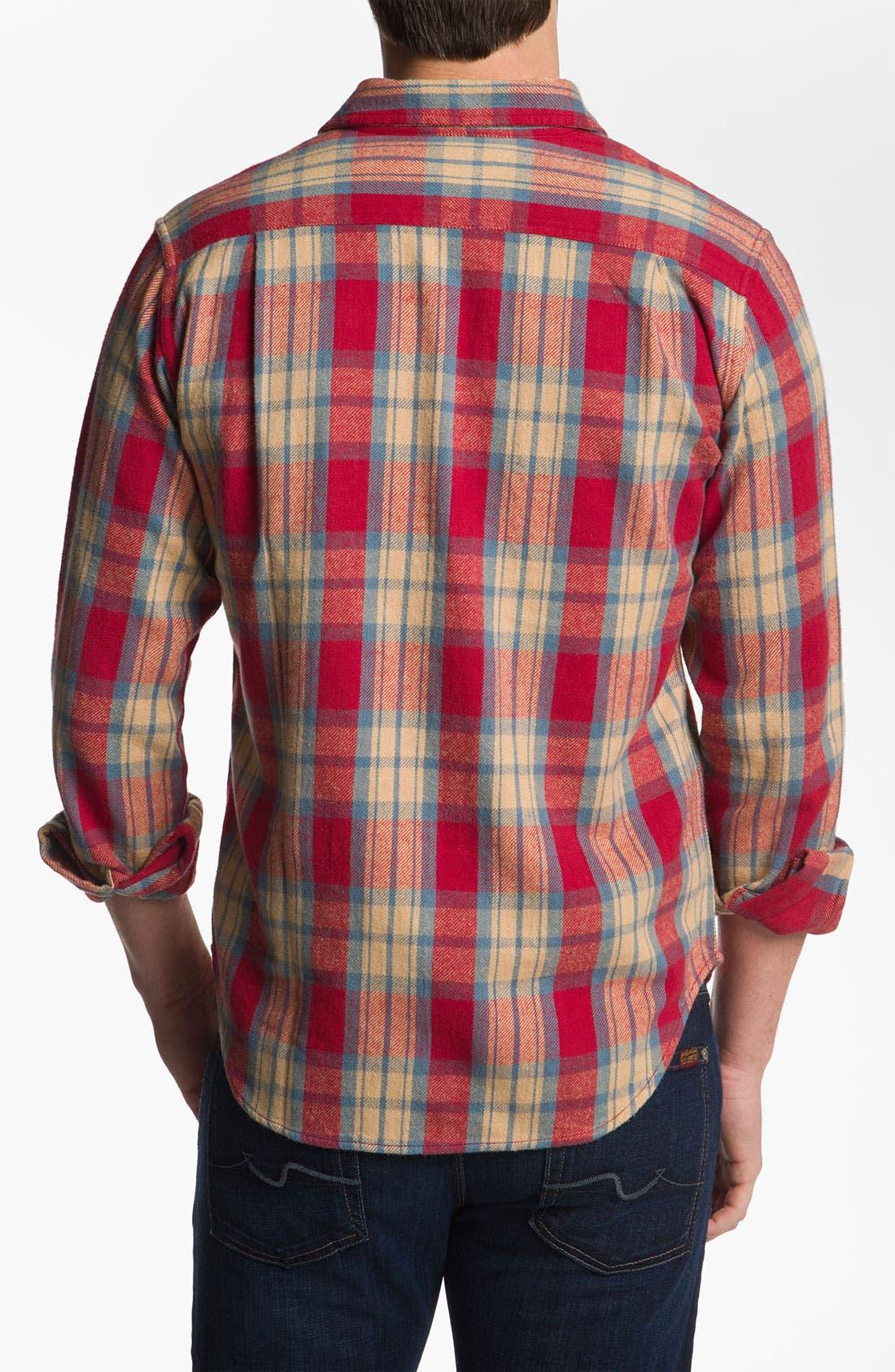 Alternate Image 2  - Obey 'Merrick' Woven Plaid Shirt