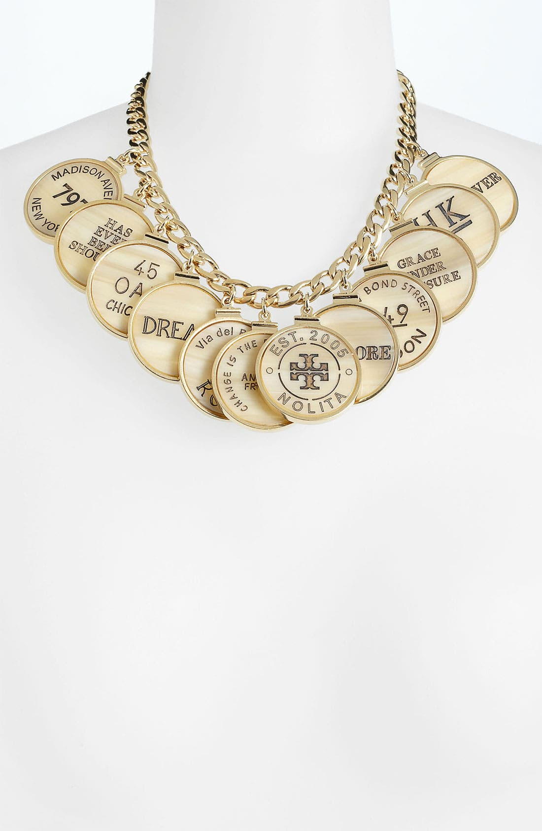 Main Image - Tory Burch 'Tory Landmark' Frontal Necklace