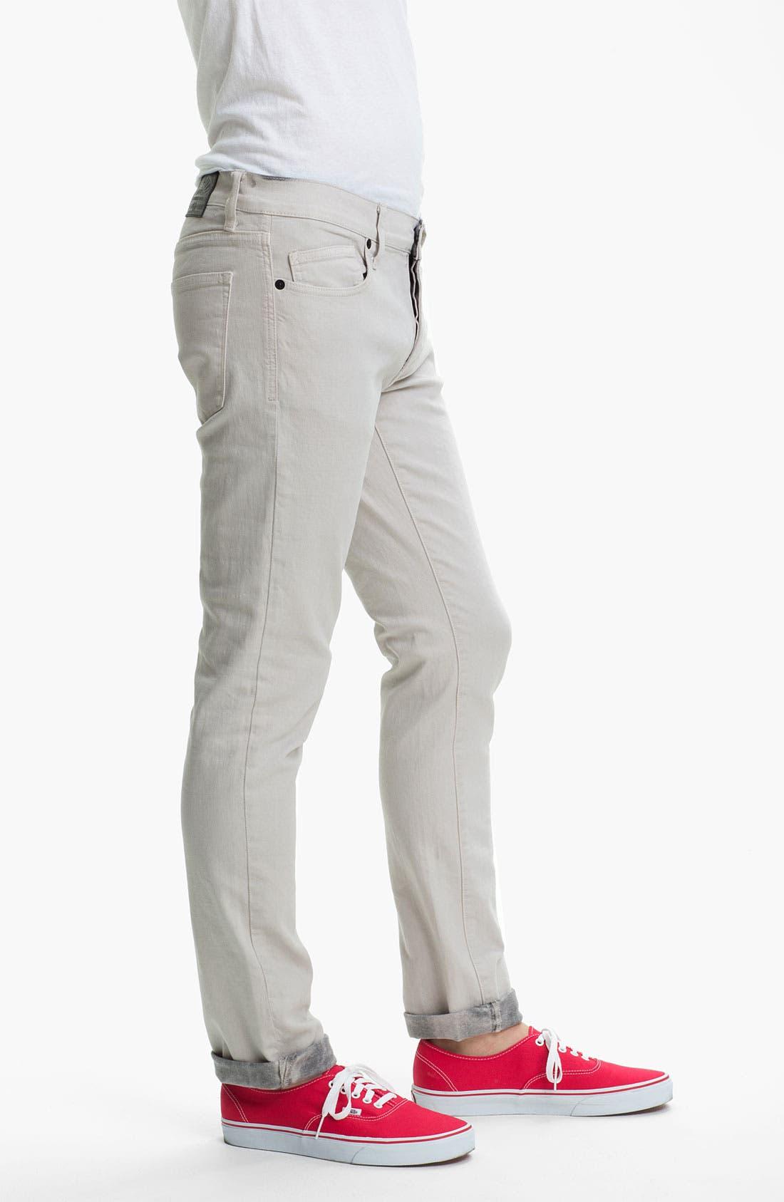 Alternate Image 3  - Kill City 'Wire' Slim Skinny Leg Jeans (White)