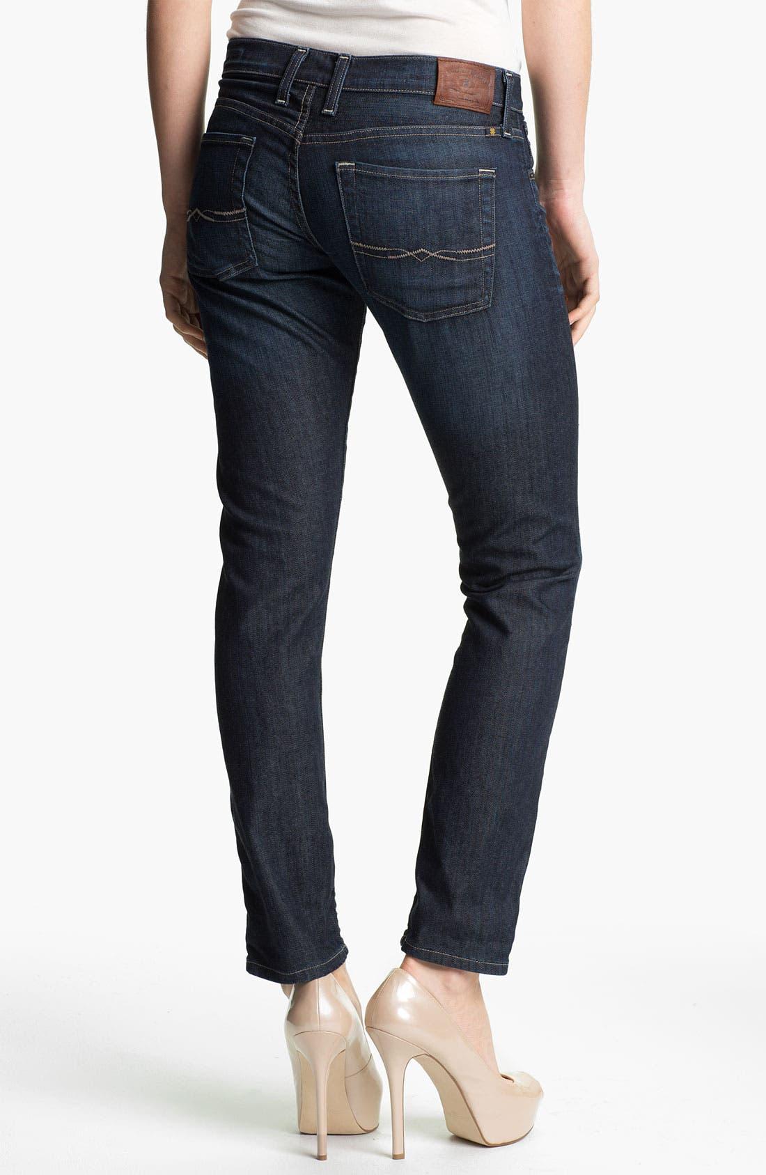 Alternate Image 2  - Lucky Brand 'Sienna' Cigarette Jeans (Dark Paley) (Online Exclusive)