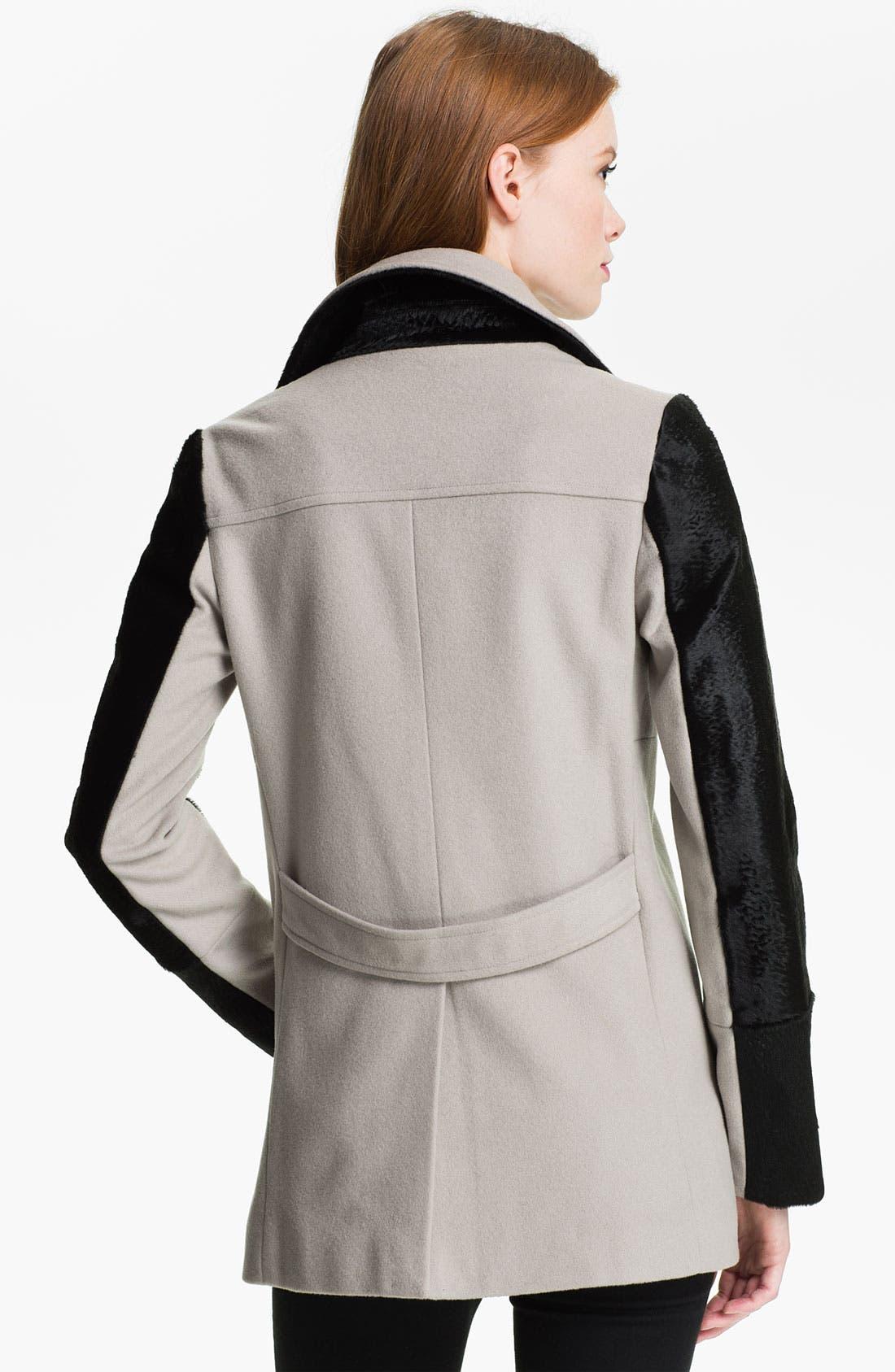 Alternate Image 2  - Rebecca Minkoff 'Jamison' Genuine Calf Hair Sleeve Jacket