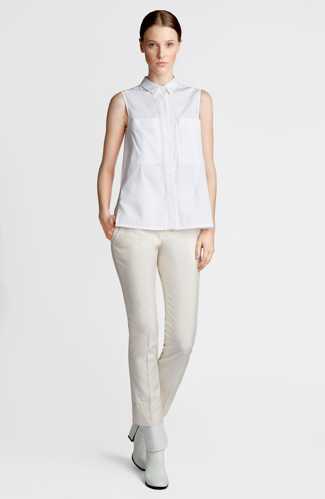 Alternate Image 1 Selected - Jil Sander Sleeveless Poplin Shirt