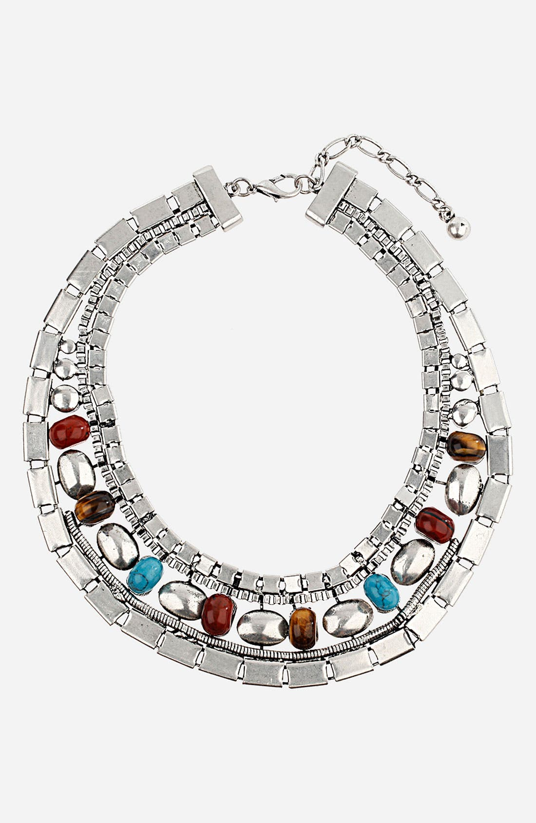 Main Image - Topshop Stones Collar Necklace