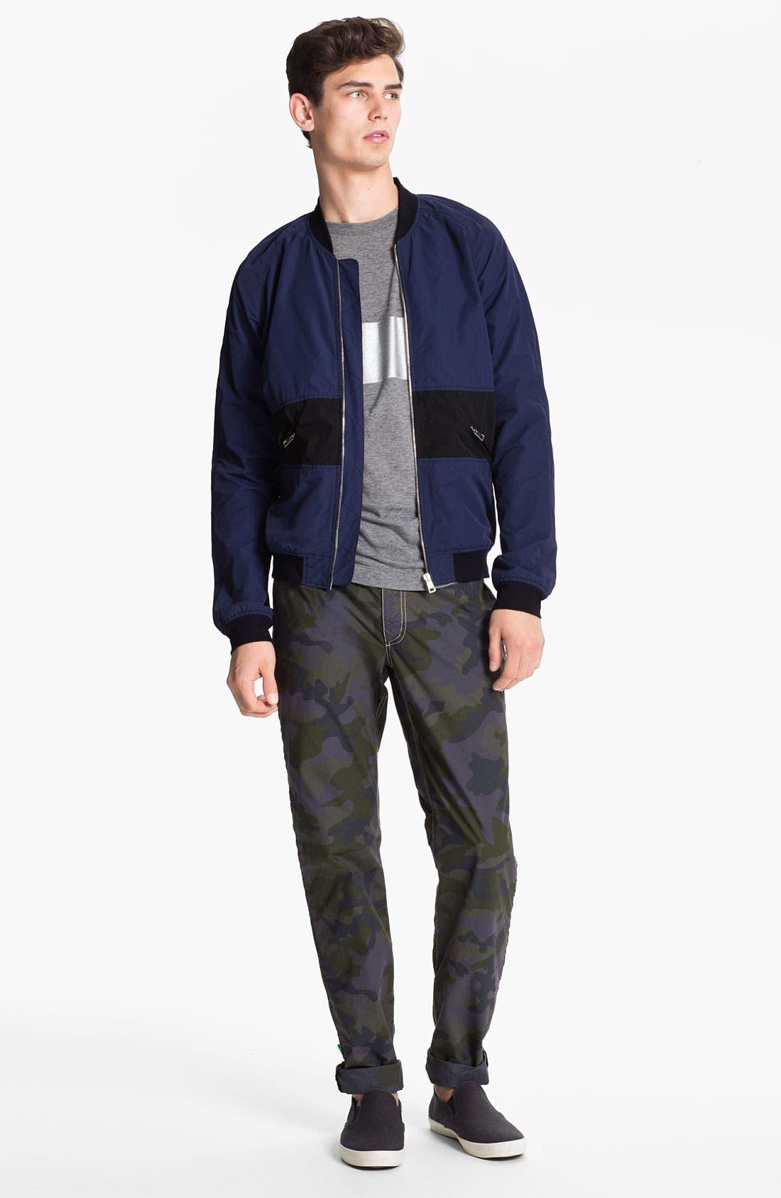 Alternate Image 4  - U Clothing 'Kai' Raglan Bomber Jacket