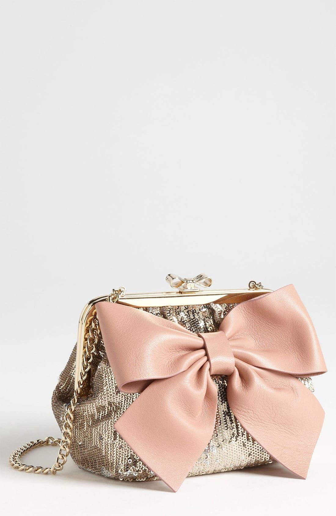 Alternate Image 1 Selected - RED Valentino 'Sequin Bow - Small' Frame Shoulder Bag