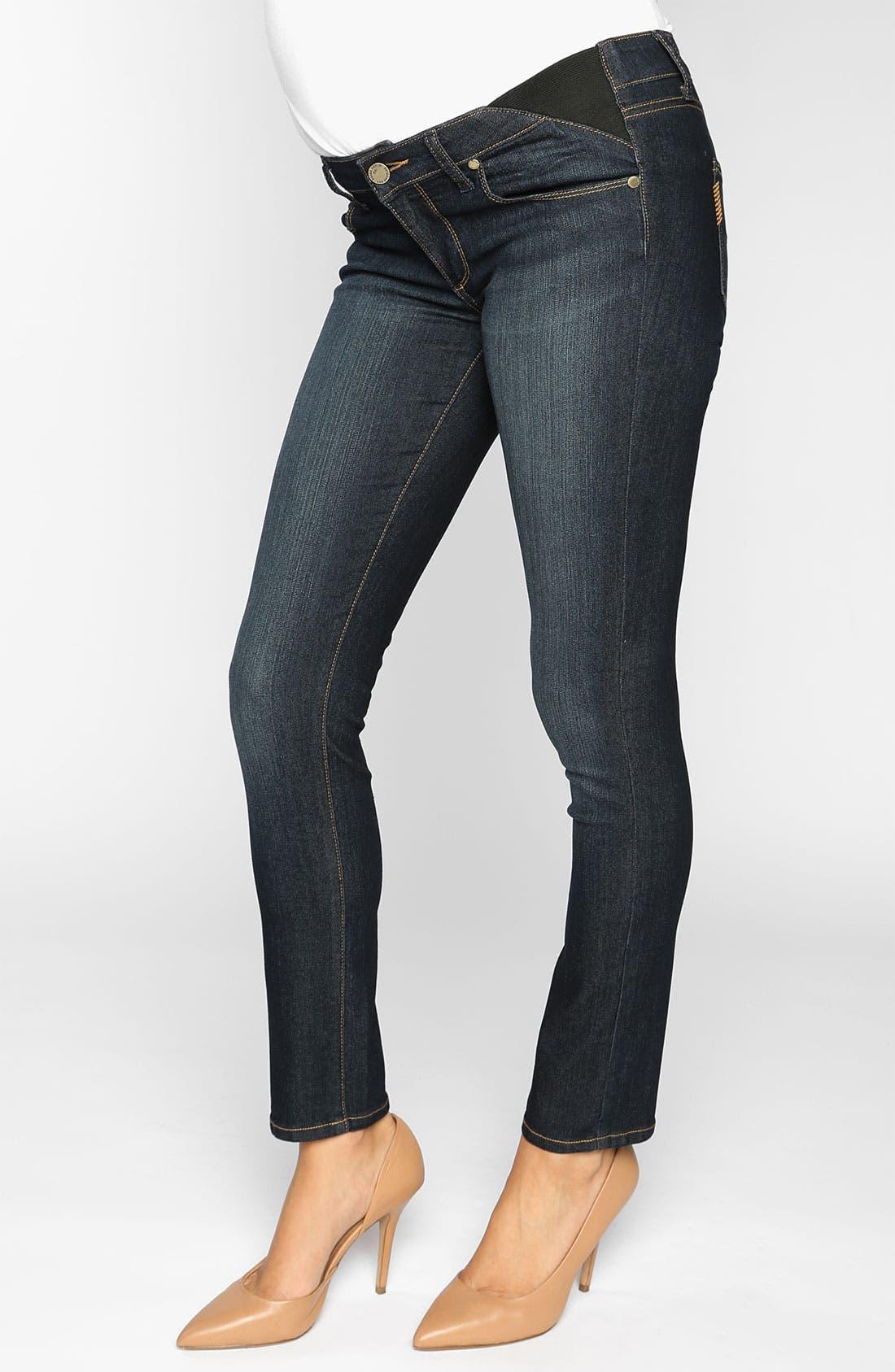 Main Image - Paige Maternity 'Union Skyline' Ankle Skinny Jeans (Carson)