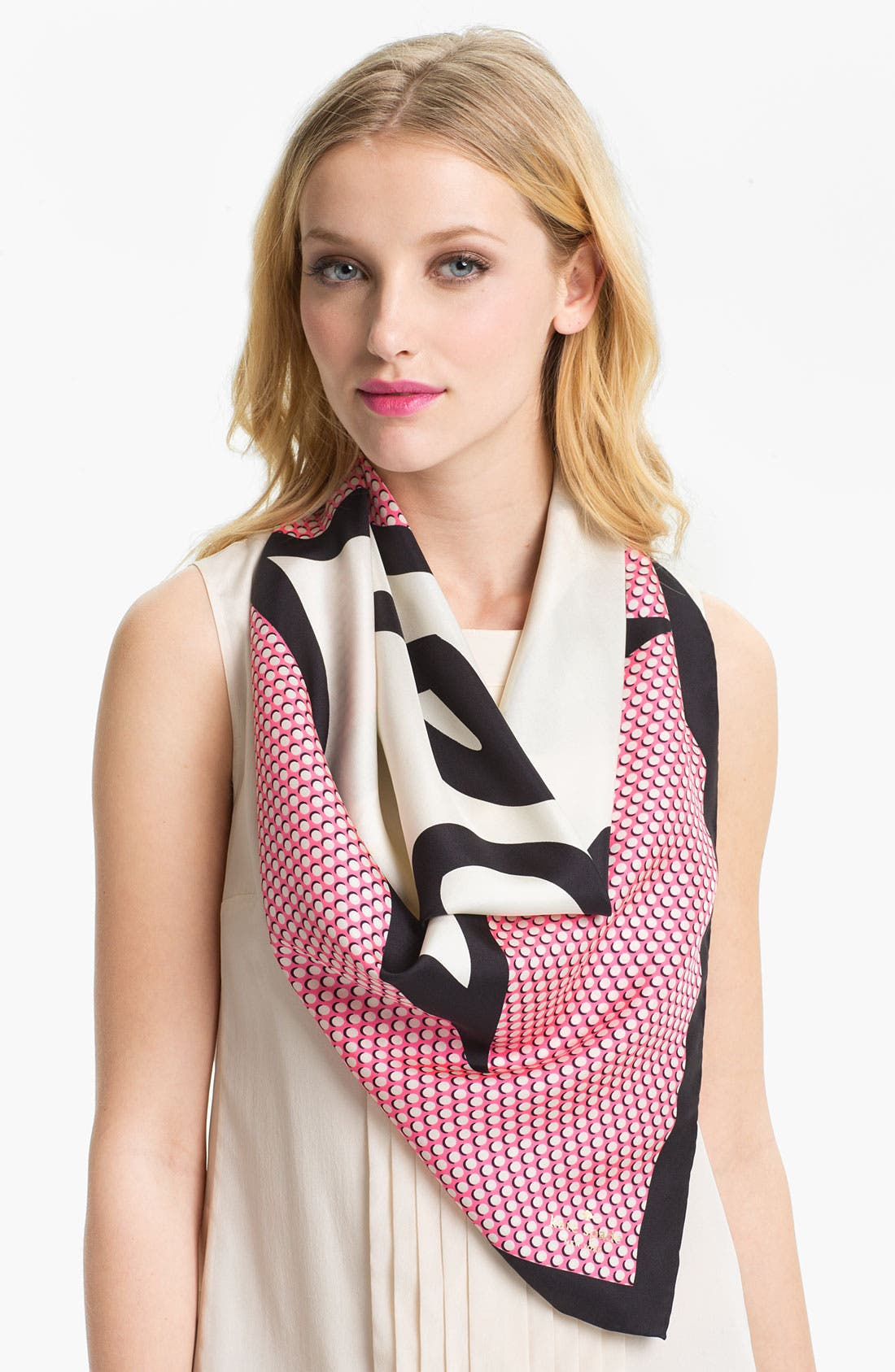 Main Image - kate spade new york 'pop' silk scarf