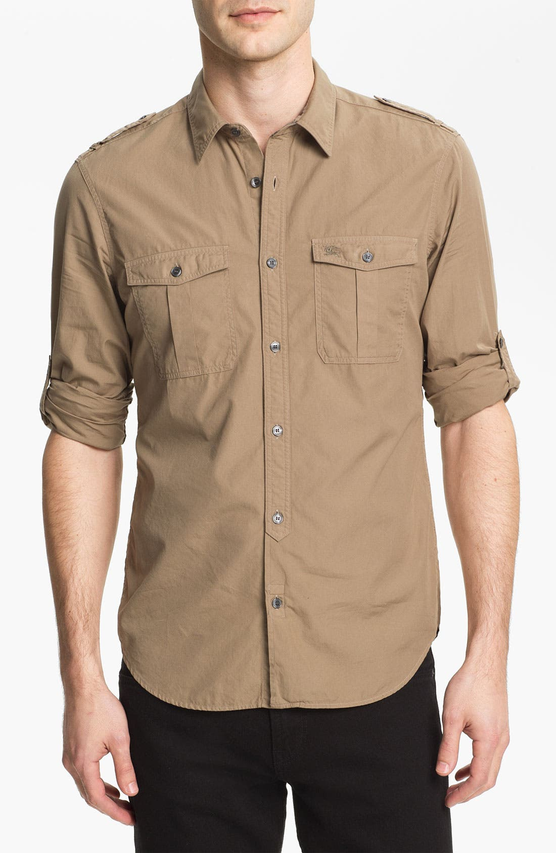 Main Image - Burberry Brit 'Keeling' Trim Fit Cotton Sport Shirt