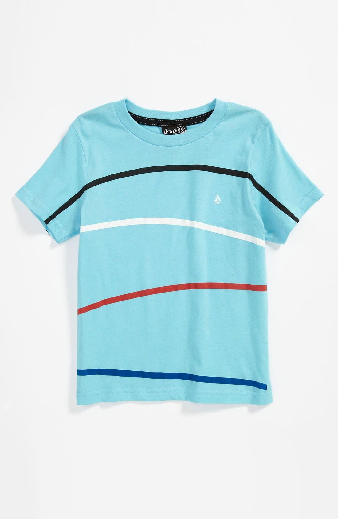 Main Image - Volcom 'Think' Stripe T-Shirt (Little Boys)