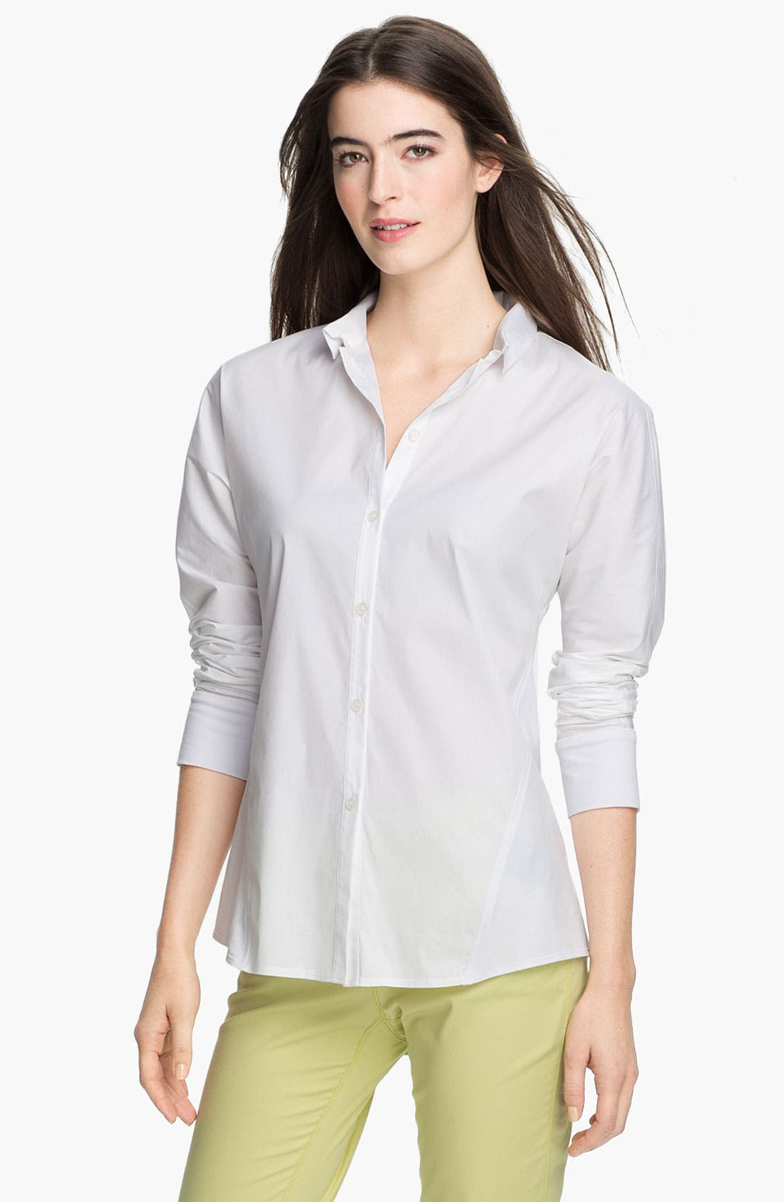 Alternate Image 1 Selected - Lafayette 148 New York Mix Media Blouse