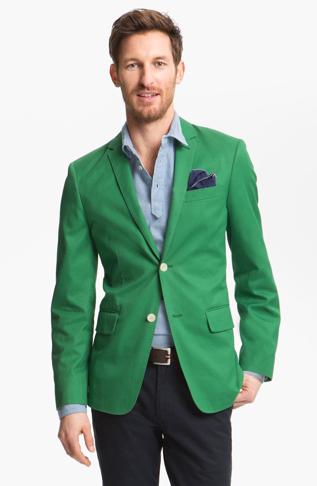 Alternate Image 1 Selected - John W. Nordstrom Cotton Blazer
