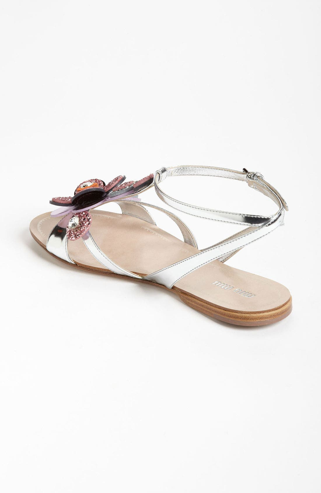 Alternate Image 2  - Miu Miu T-Strap Flower Sandal