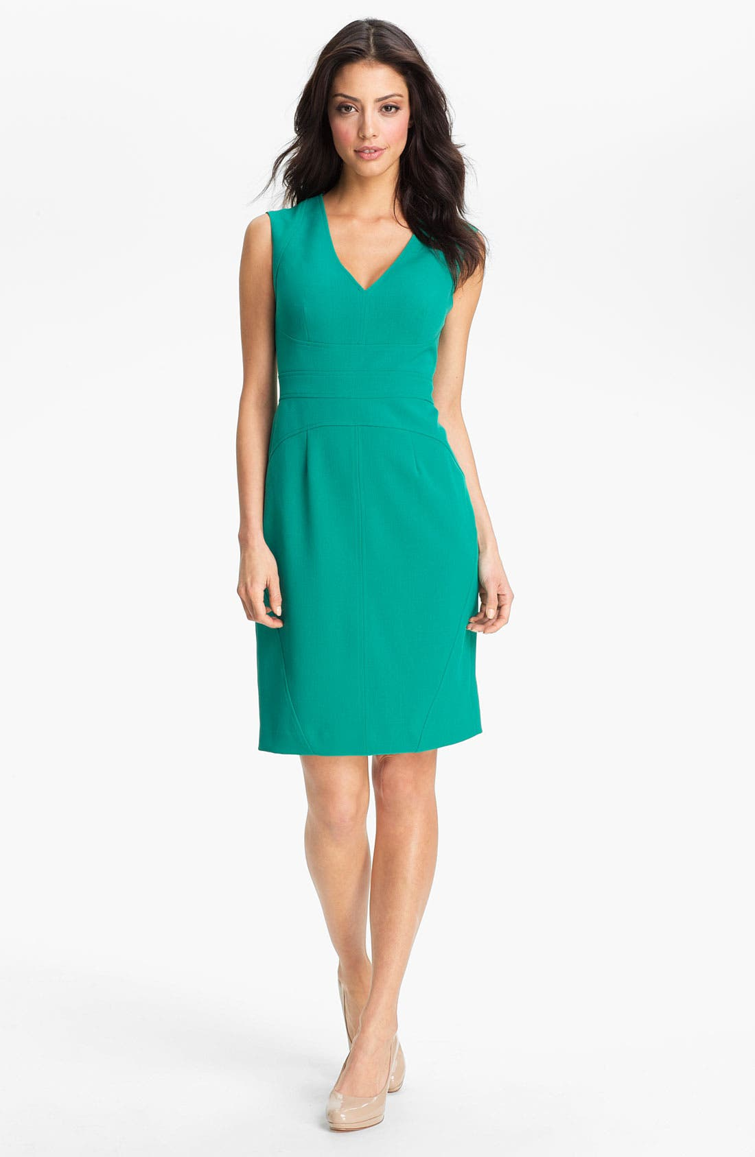 Alternate Image 1 Selected - Adrianna Papell Seamed Sheath Dress