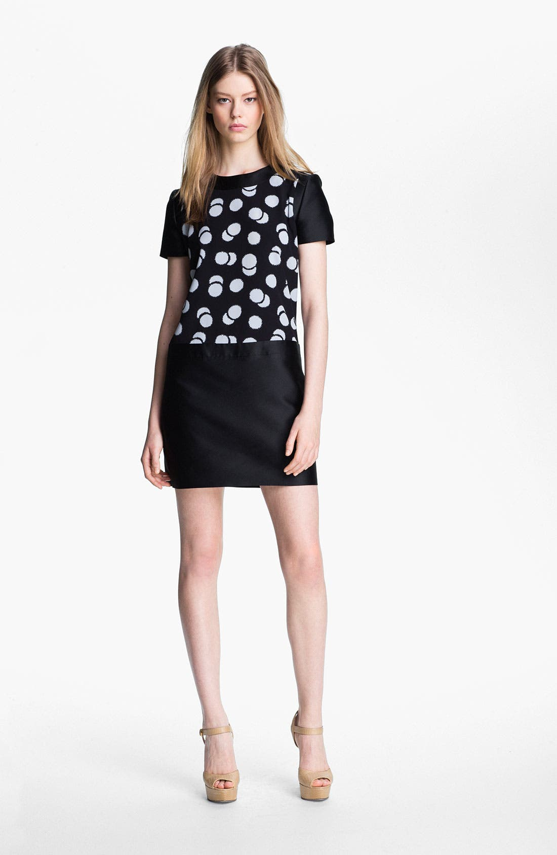 Alternate Image 1 Selected - Victoria, Victoria Beckham Print Crepe Minidress