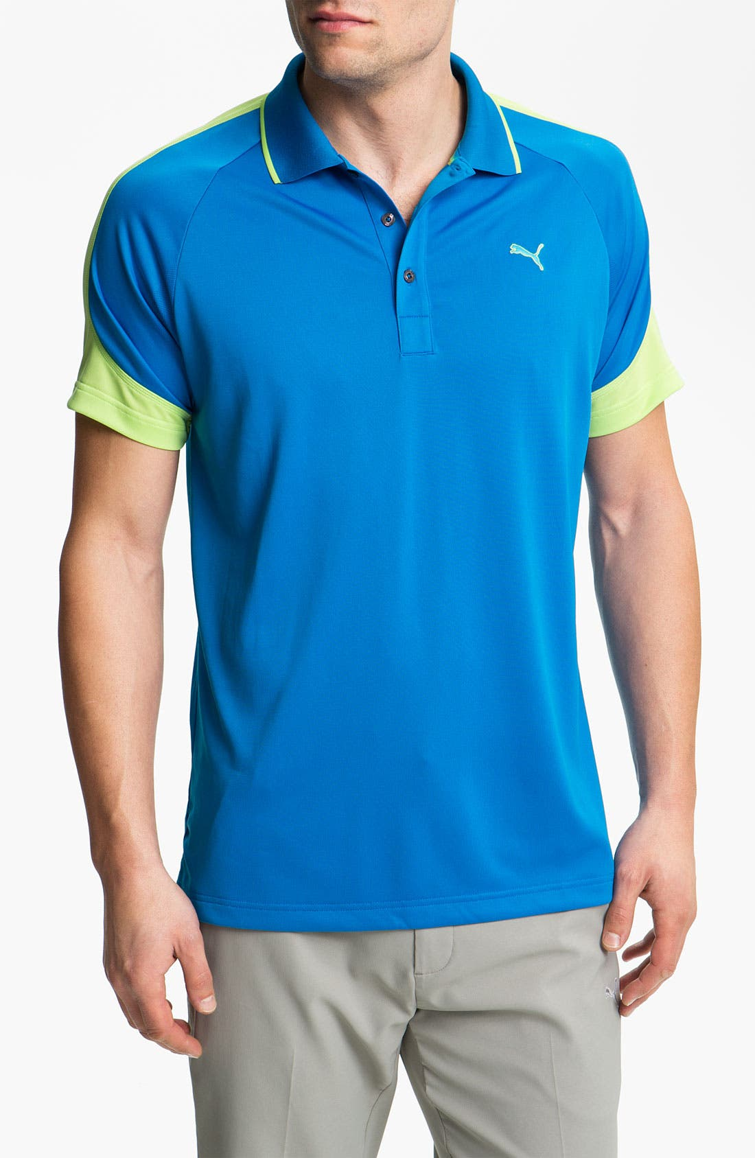 Alternate Image 1 Selected - PUMA GOLF Colorblock dryCELL™ Polo