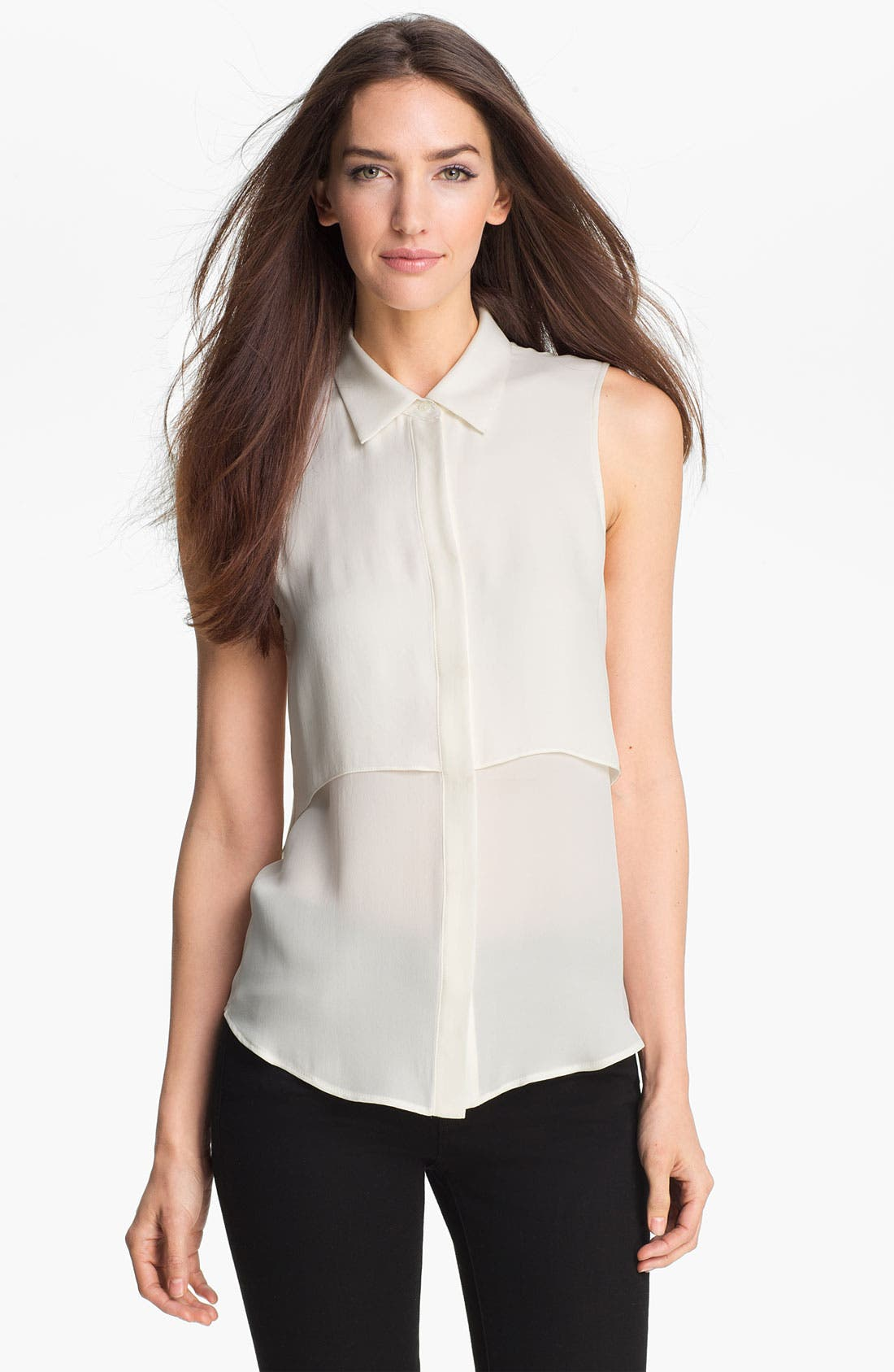 Alternate Image 1 Selected - Theory 'Rosae' Silk Shirt