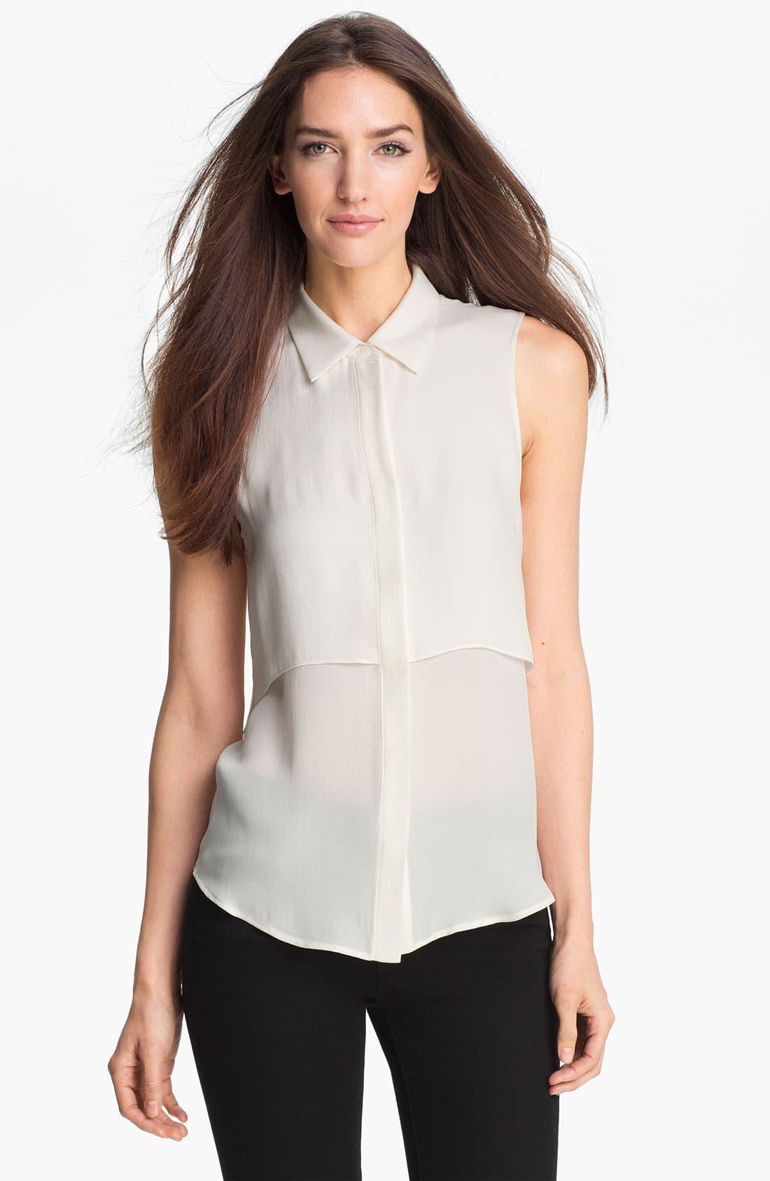 Main Image - Theory 'Rosae' Silk Shirt