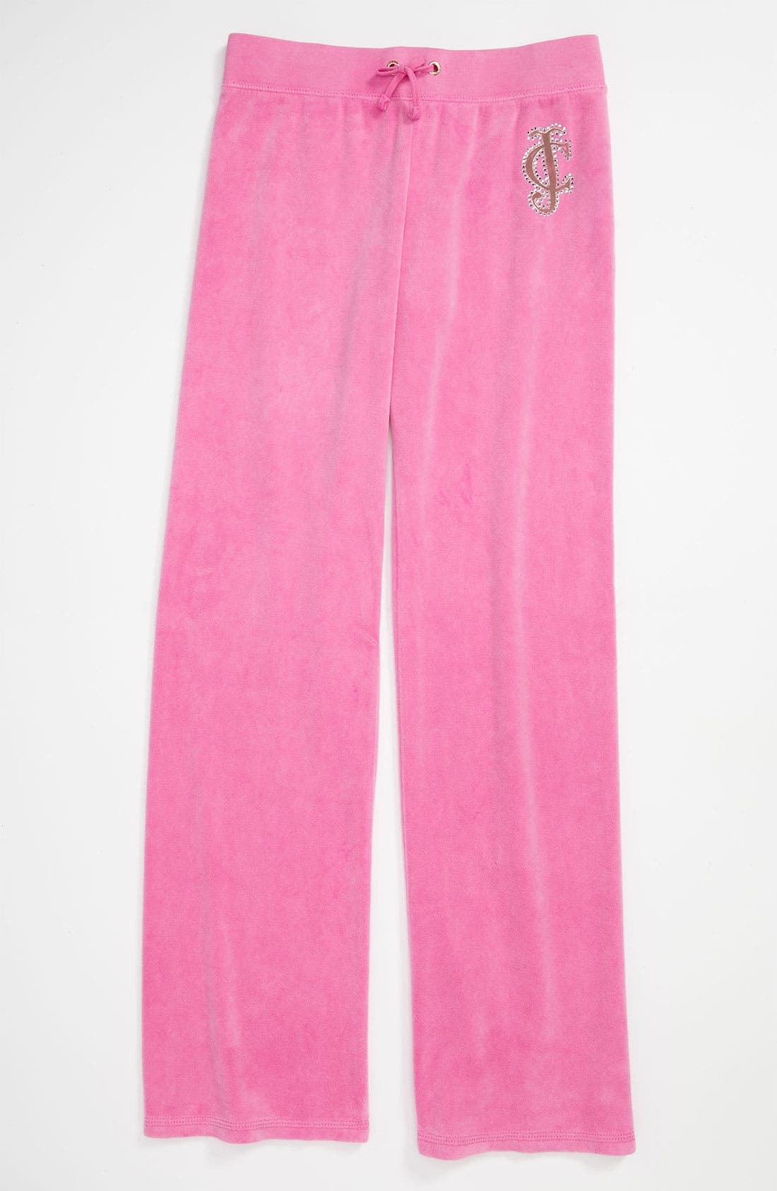 Alternate Image 1 Selected - Juicy Couture Velour Pants (Little Girls & Big Girls)