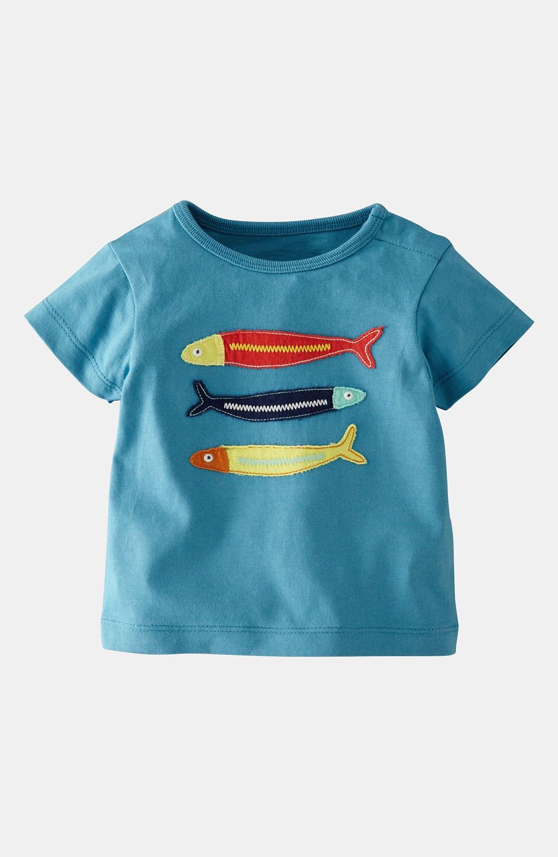 Main Image - Mini Boden 'Big Appliqué' T-Shirt (Infant)