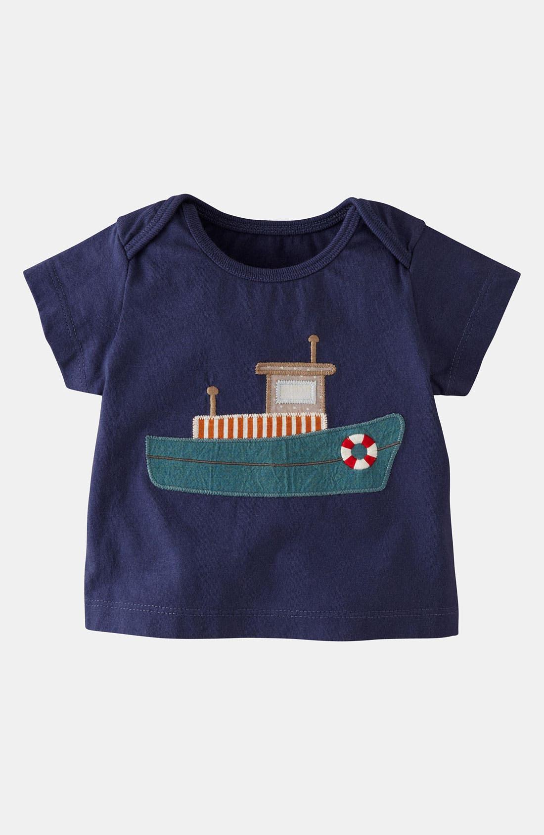 Alternate Image 1 Selected - Mini Boden 'Vehicle Appliqué' T-Shirt (Baby)