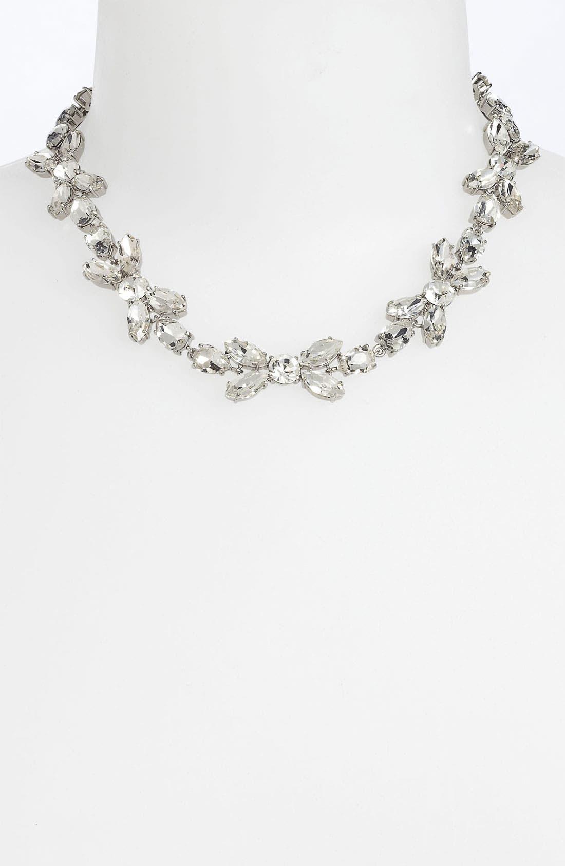 Main Image - kate spade new york 'crystal petals' collar necklace