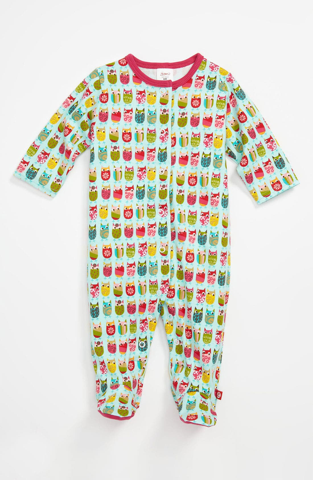 Alternate Image 1 Selected - Zutano 'Owls' Footie (Infant)