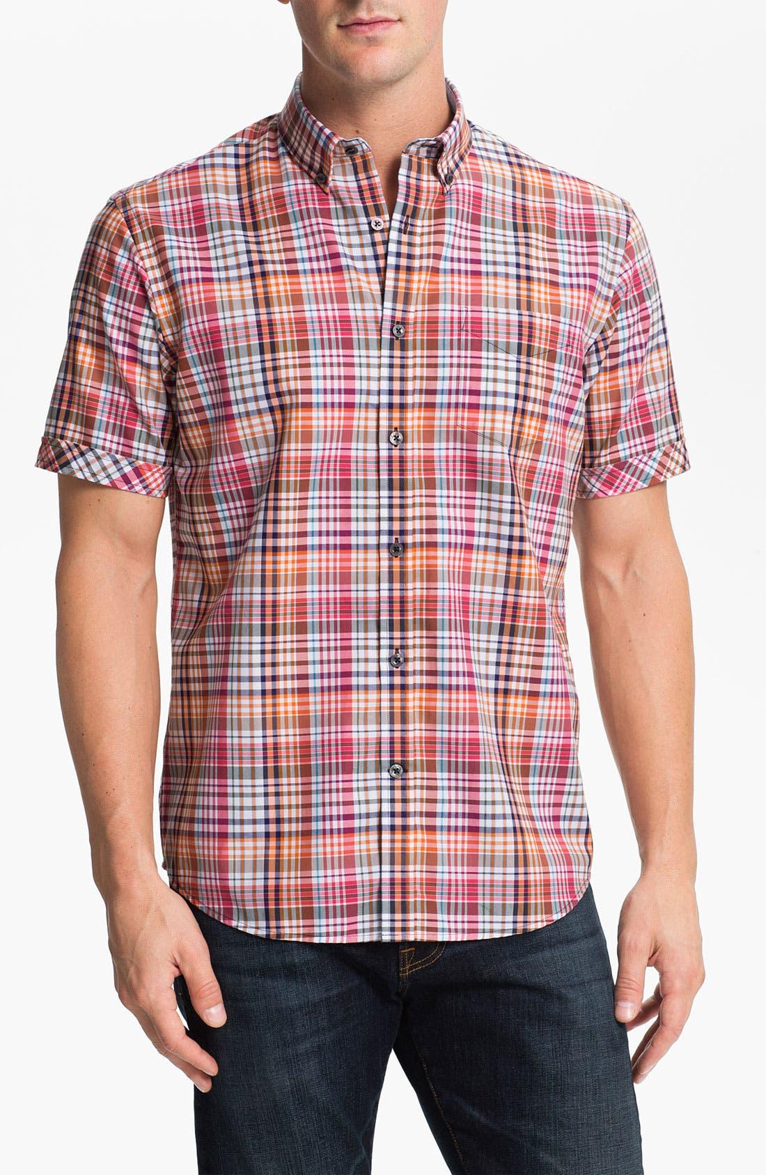 Main Image - James Campbell 'Jamie' Plaid Sport Shirt