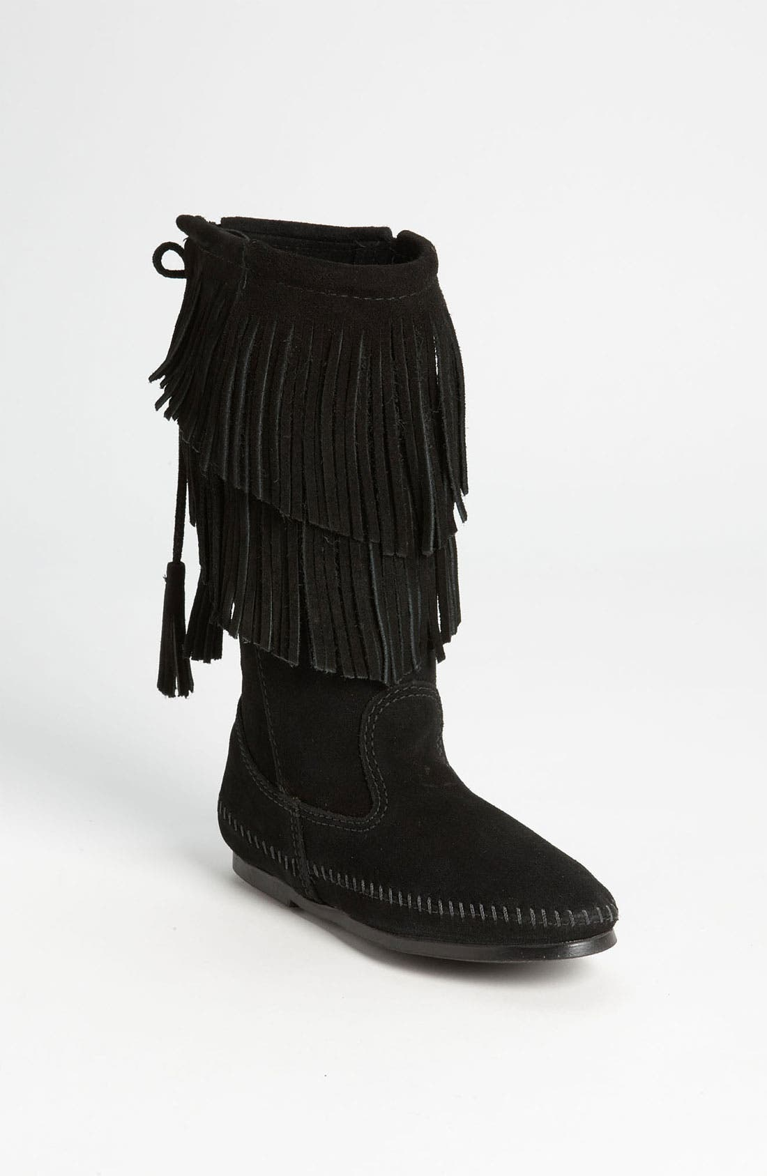 Alternate Image 1 Selected - Minnetonka Two Layer Fringed Boot