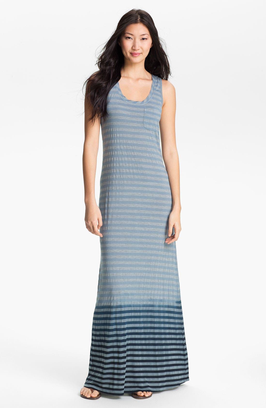 Alternate Image 1 Selected - Allen Allen Ombré Stripe Maxi Dress