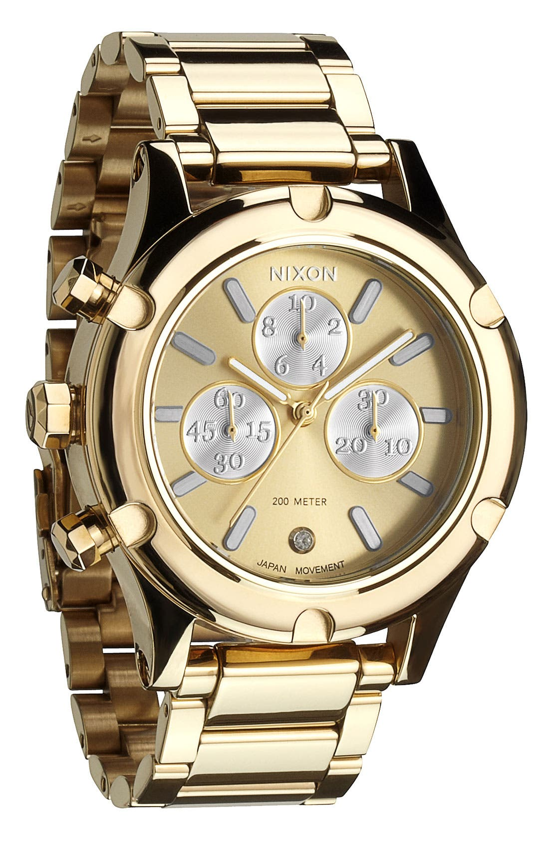 Alternate Image 1 Selected - Nixon 'The Camden Chrono' Bracelet Watch