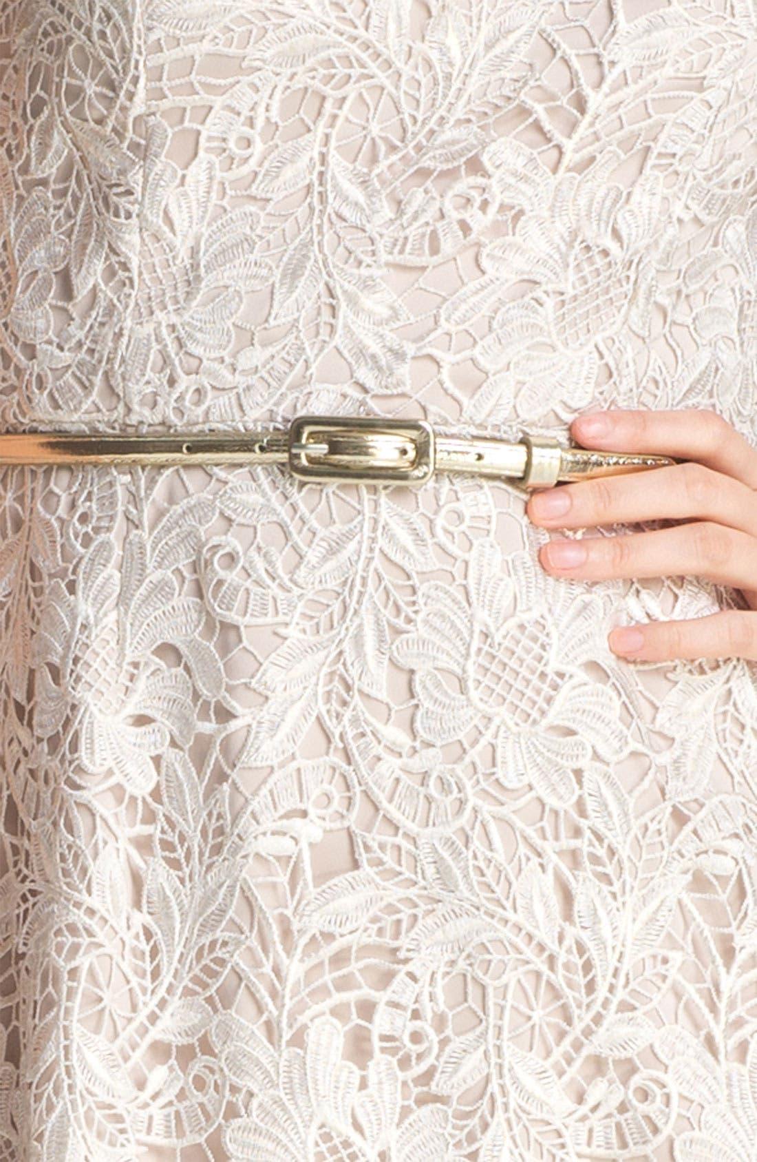Alternate Image 3  - Eliza J Belted Lace Dress
