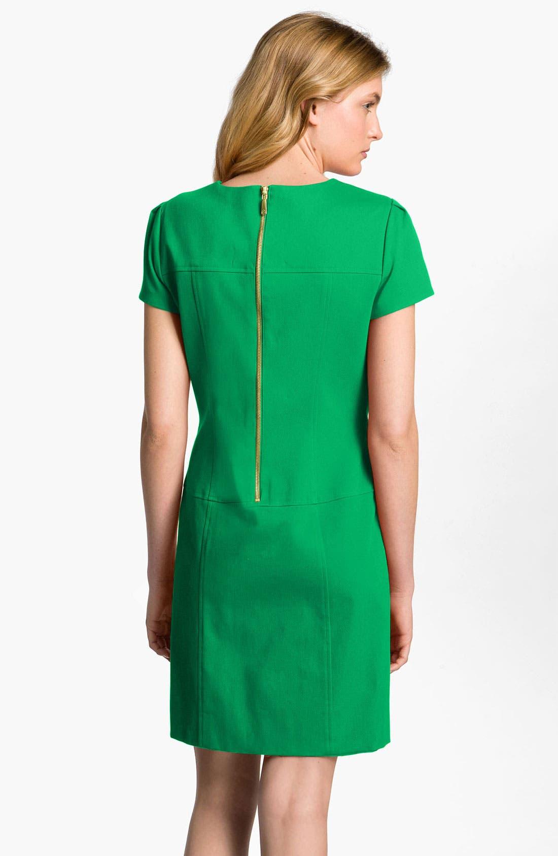 Alternate Image 2  - Tahari by Arthur S. Levine Exposed Zip Shift Dress