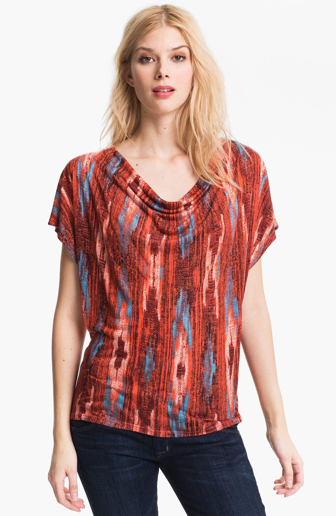 Alternate Image 1 Selected - Ella Moss 'Santa Fe' Print Cowl Neck Top