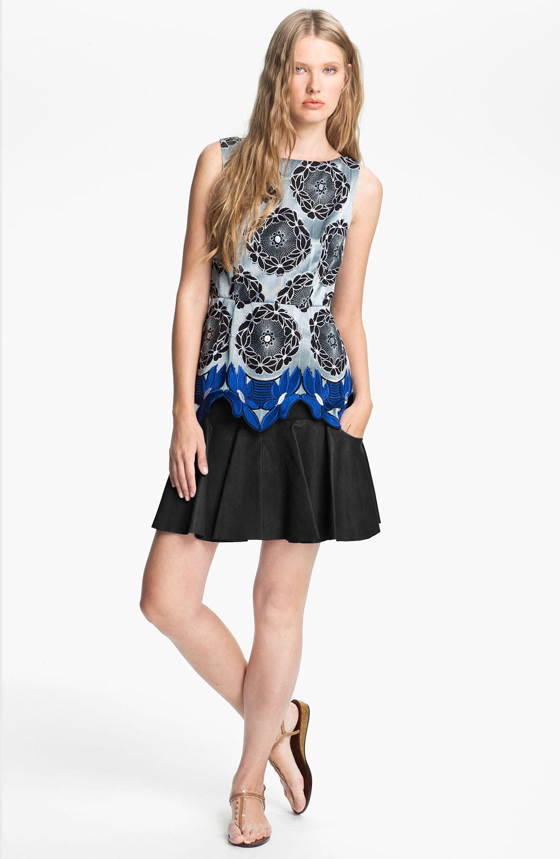 Alternate Image 1 Selected - Thakoon Addition Embroidered Lace Hem Top