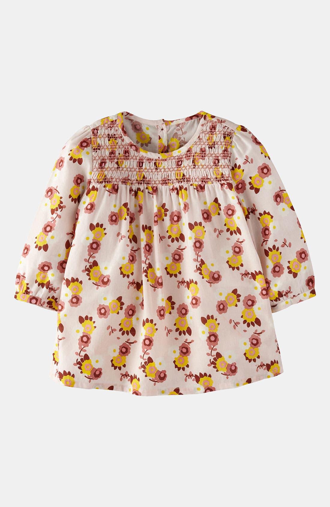 Main Image - Mini Boden Smocked Top (Little Girls & Big Girls)