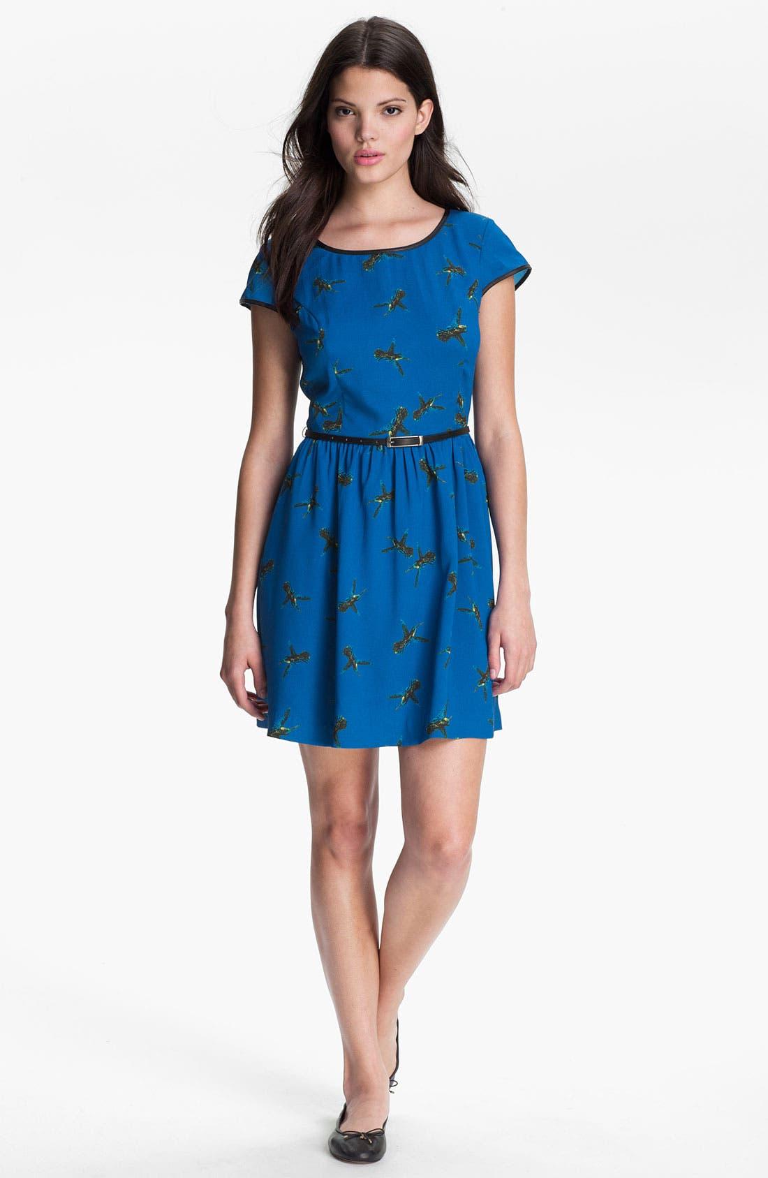 Alternate Image 1 Selected - Kensie 'Flying Hummingbird' Dress