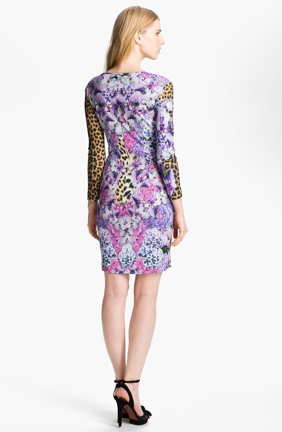 Alternate Image 2  - Just Cavalli Leopard & Floral Print Jersey Dress