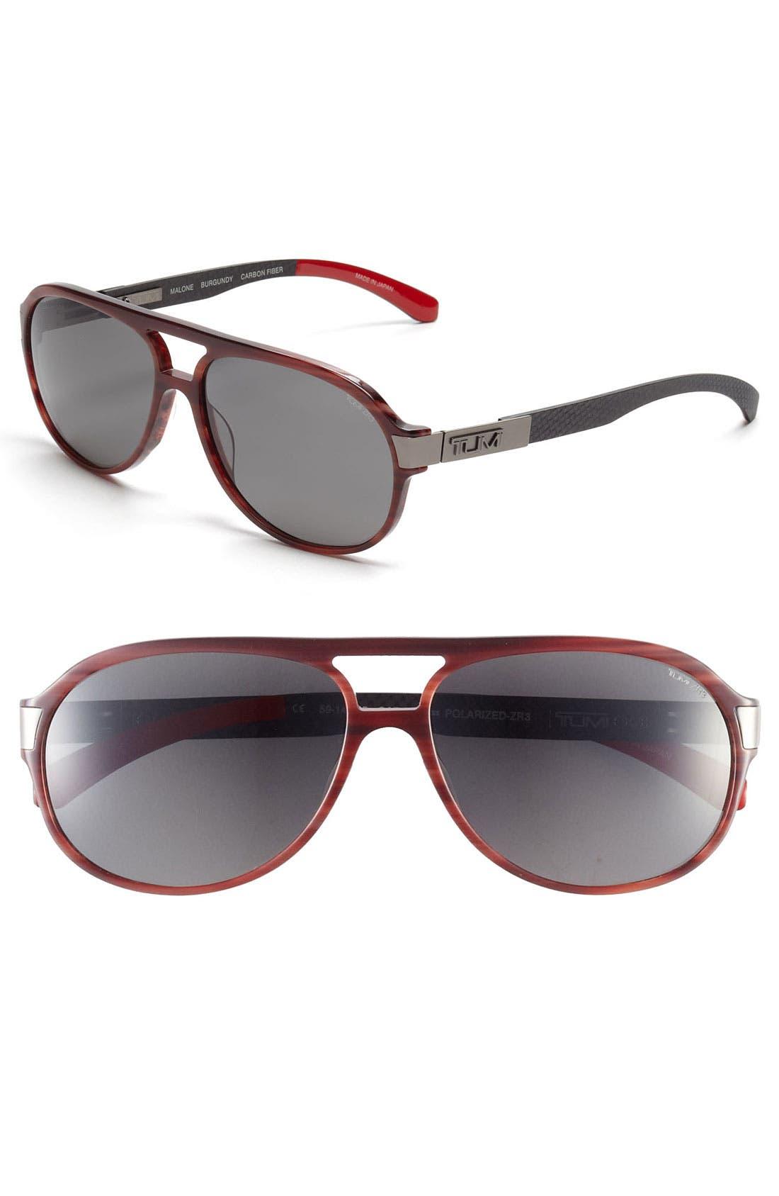 Alternate Image 1 Selected - Tumi 'Malone' 59mm Polarized Sunglasses