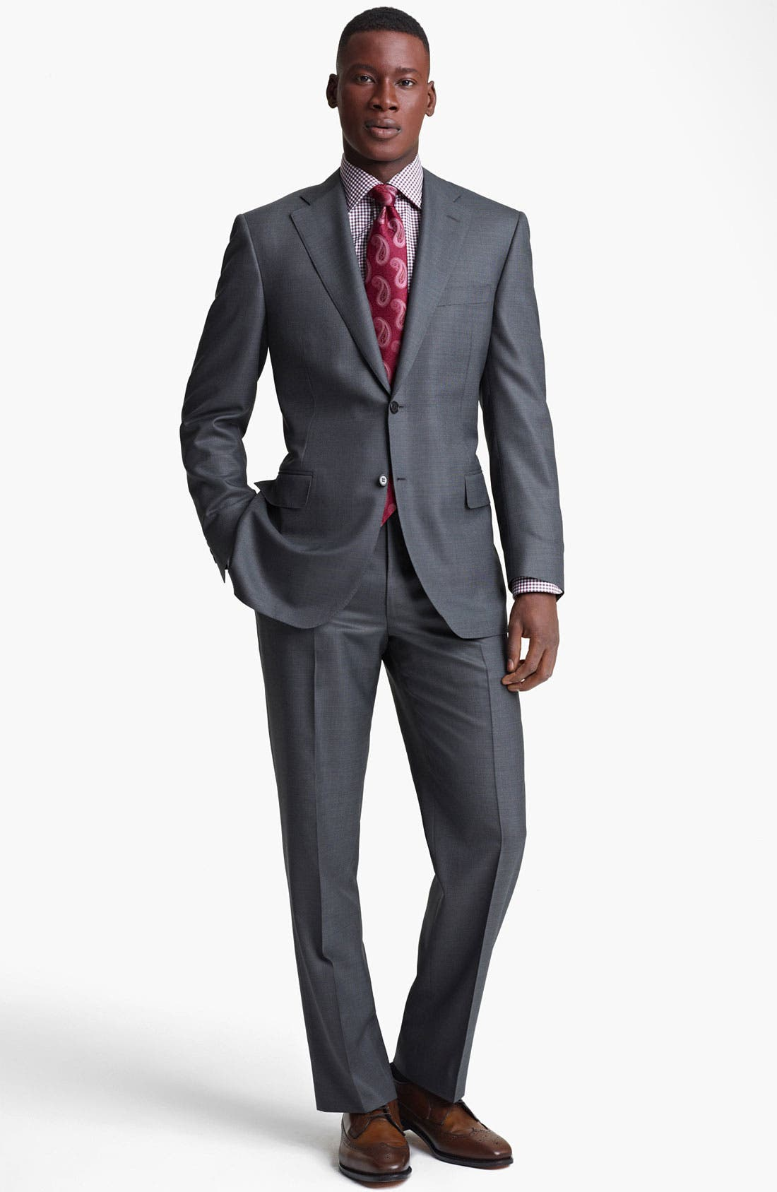 Alternate Image 2  - Canali Wool Blend Suit