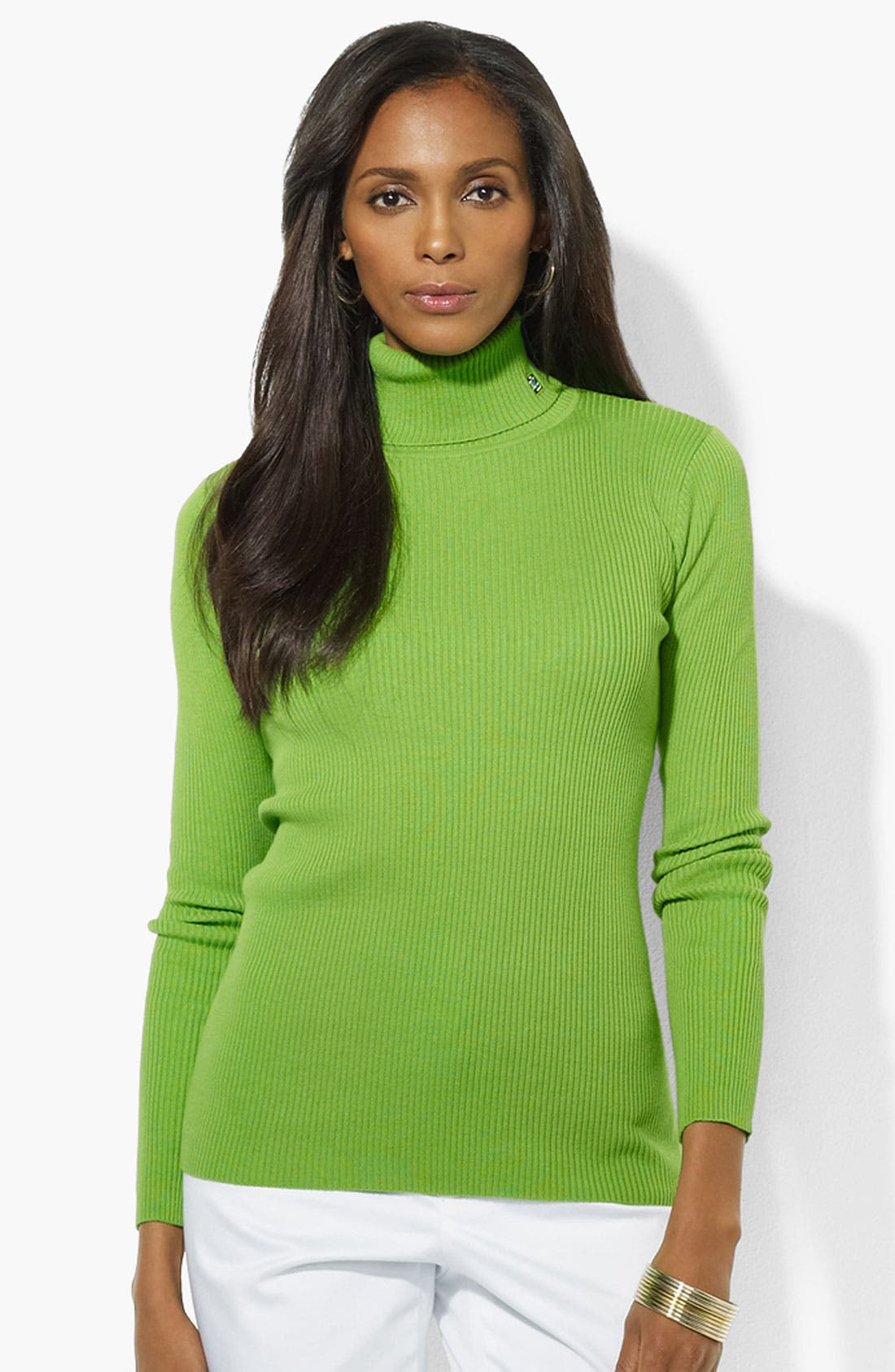 Alternate Image 1 Selected - Lauren Ralph Lauren Turtleneck (Petite) (Online Only)
