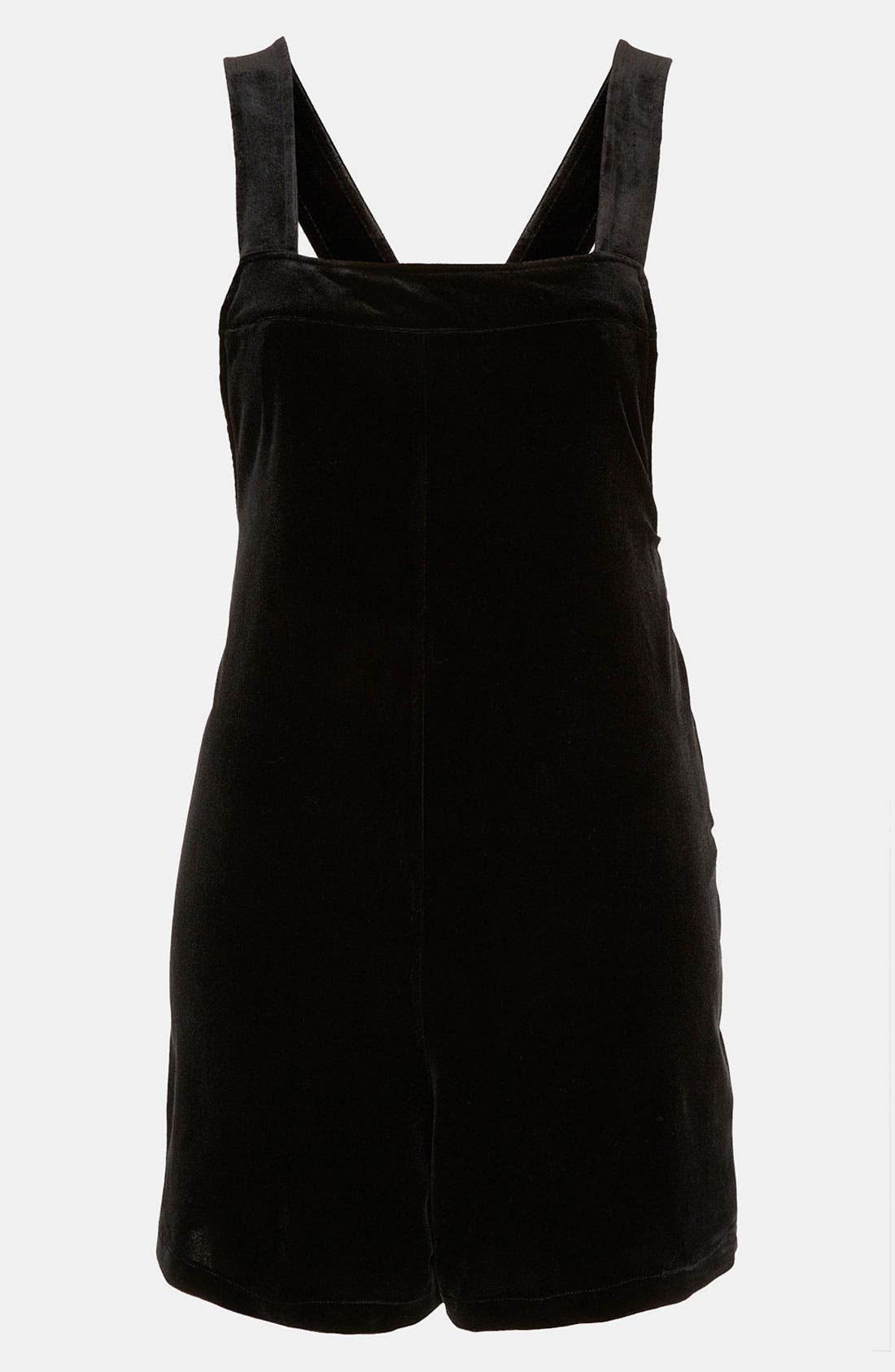 Alternate Image 1 Selected - Topshop Velvet Overall Romper
