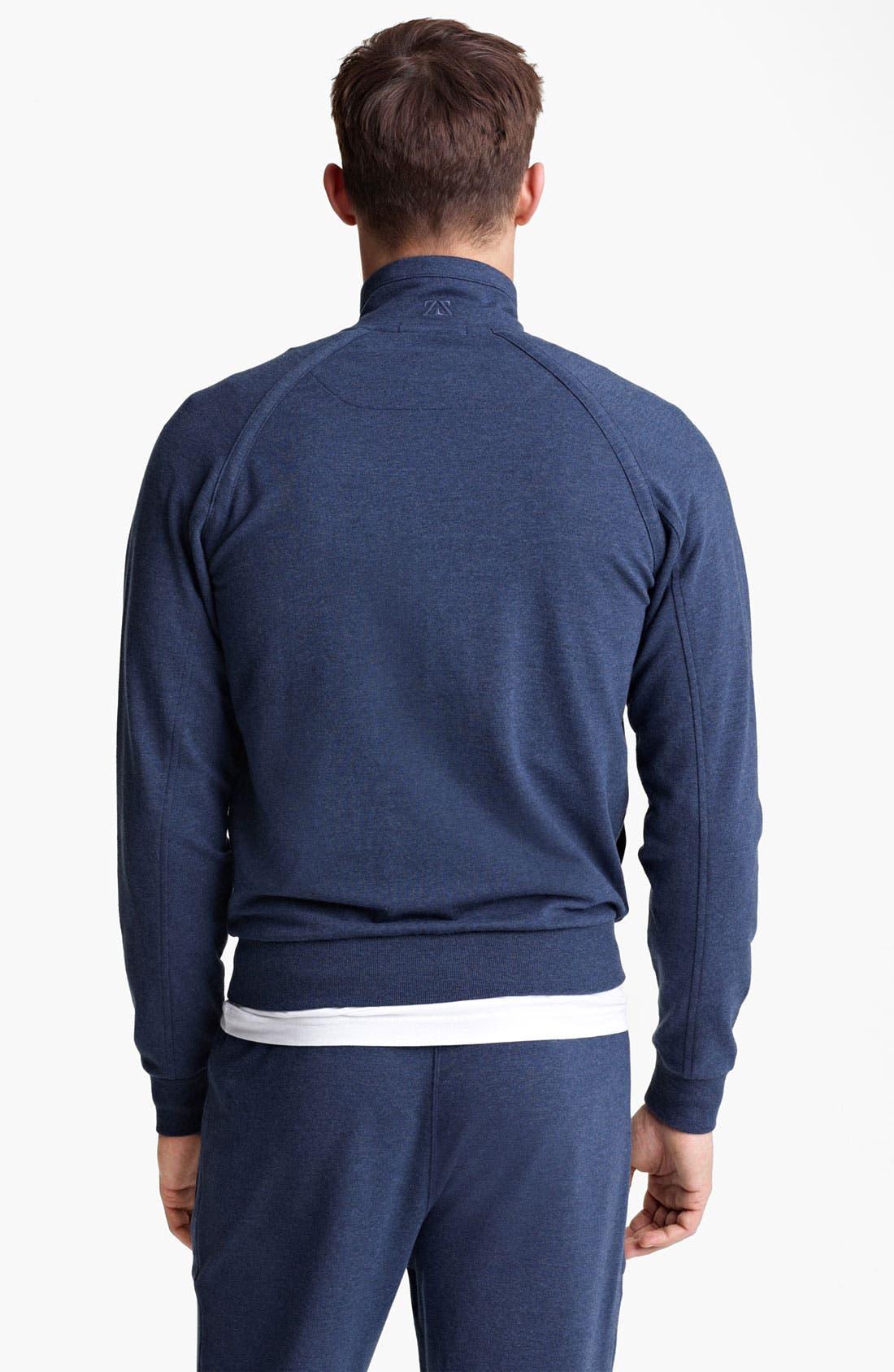 Alternate Image 2  - Zegna Sport Zip Front Sweatshirt